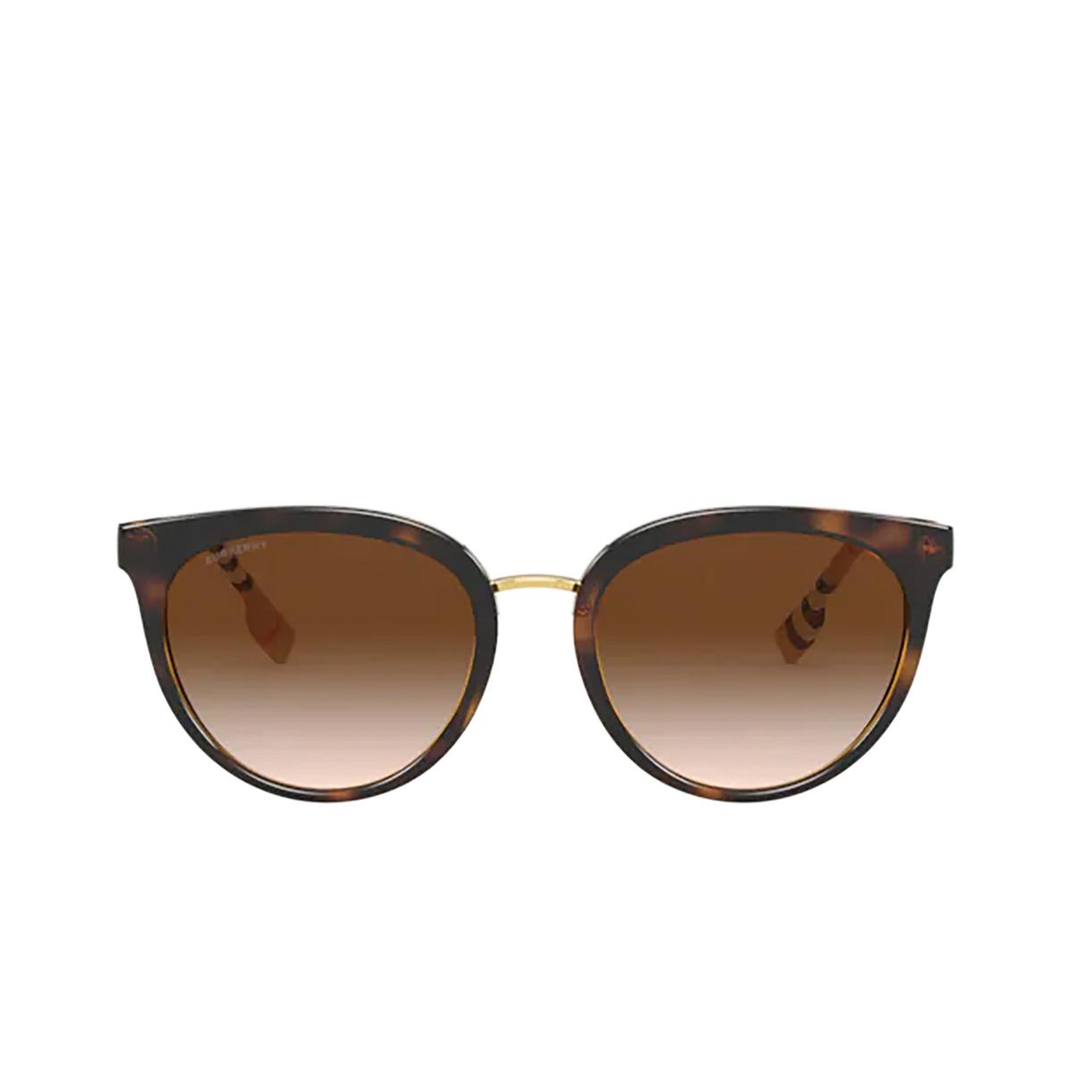 Burberry® Round Sunglasses: Willow BE4316 color Dark Havana 389013 - 1/3.
