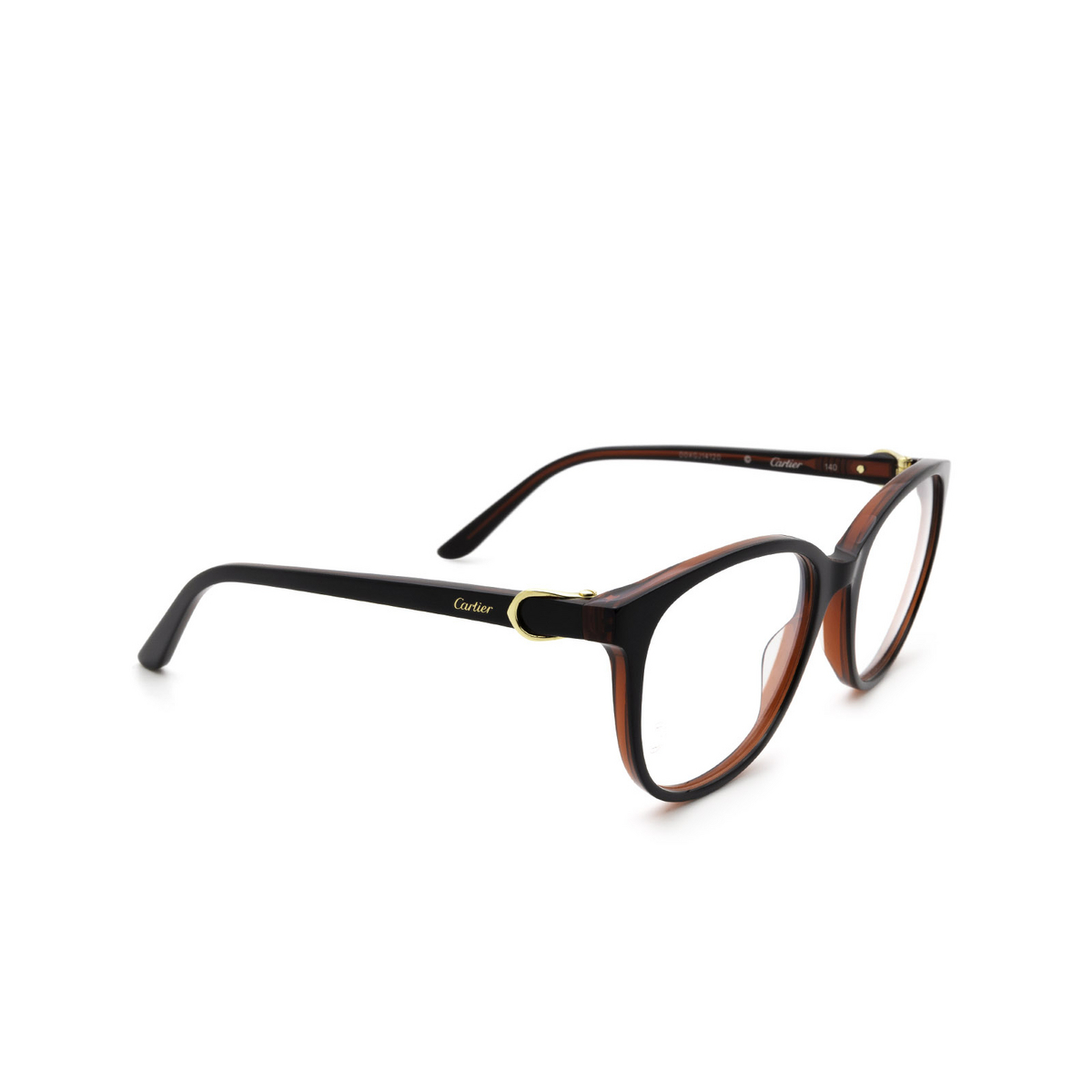 Cartier® Cat-eye Eyeglasses: CT0007O color Black & Red 001.