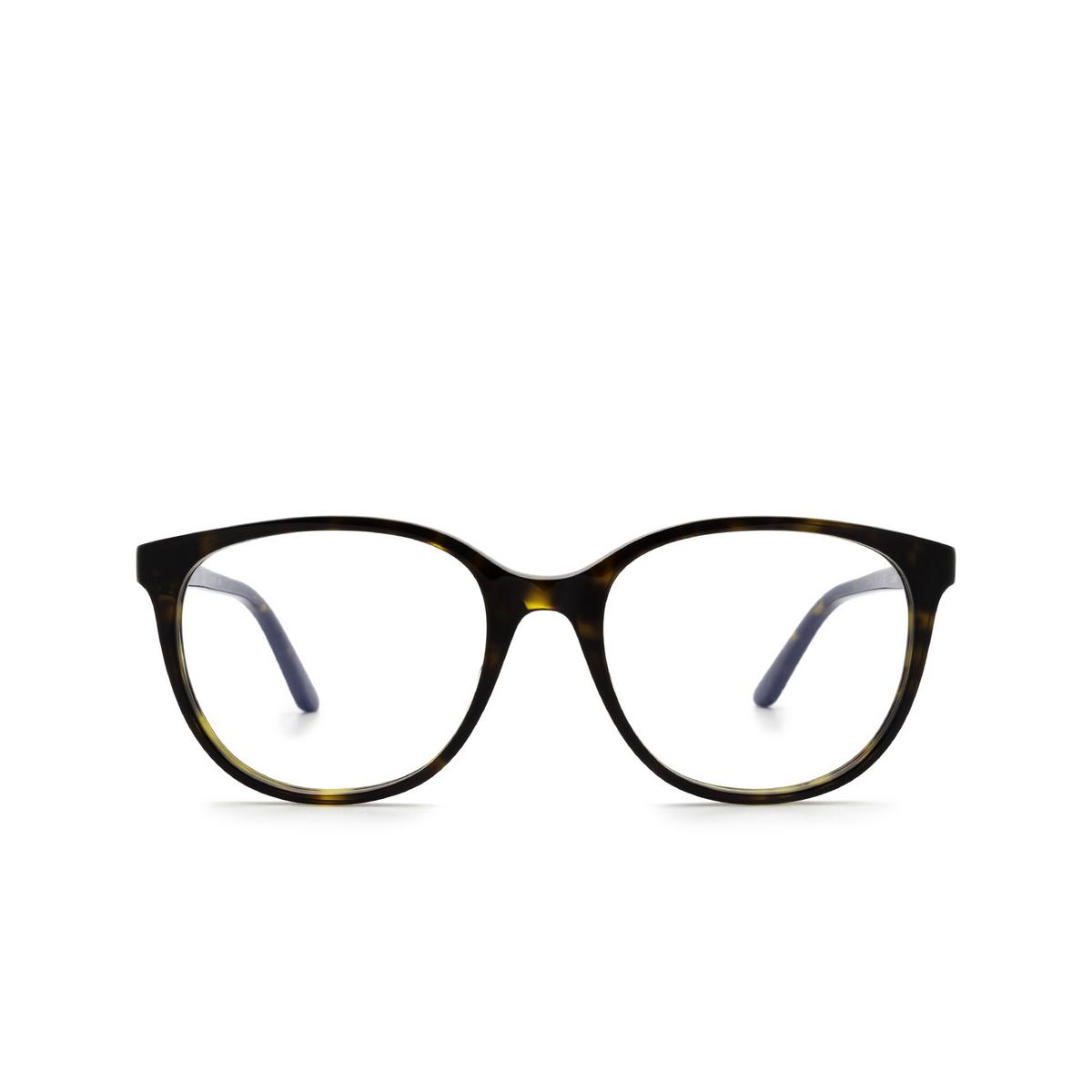 Cartier® Square Eyeglasses: CT0007O color Havana 002.