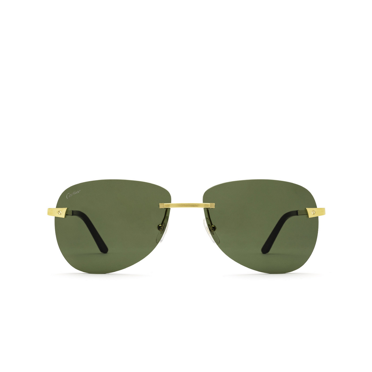 Cartier® Irregular Sunglasses: CT0035RS color Gold 002 - front view.
