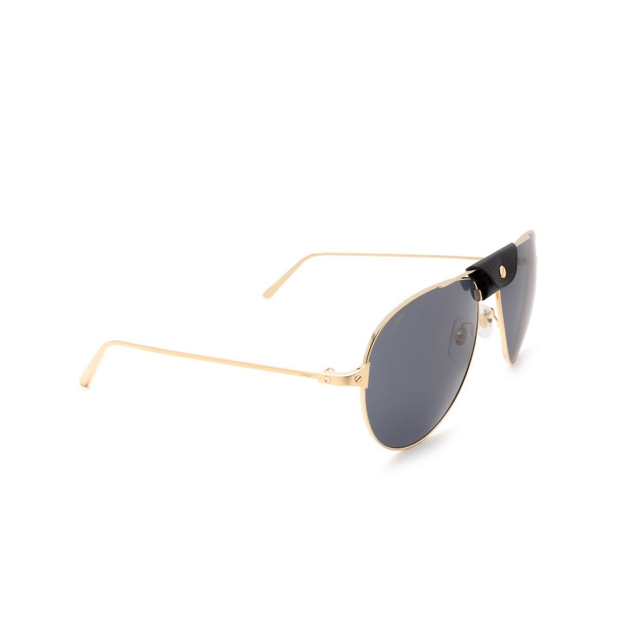 Cartier® Aviator Sunglasses: CT0038S color Gold 016.