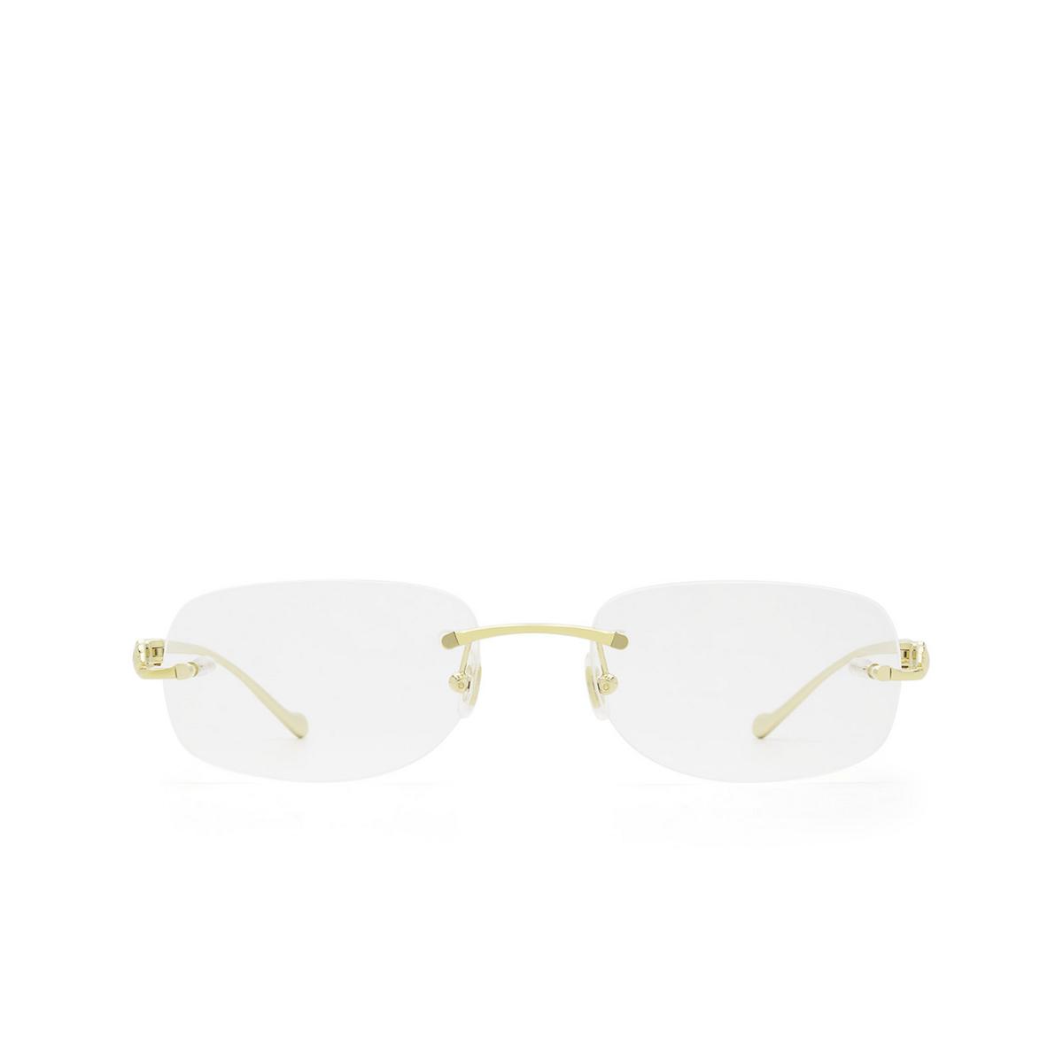 Cartier® Rectangle Eyeglasses: CT0058O color Gold 002.