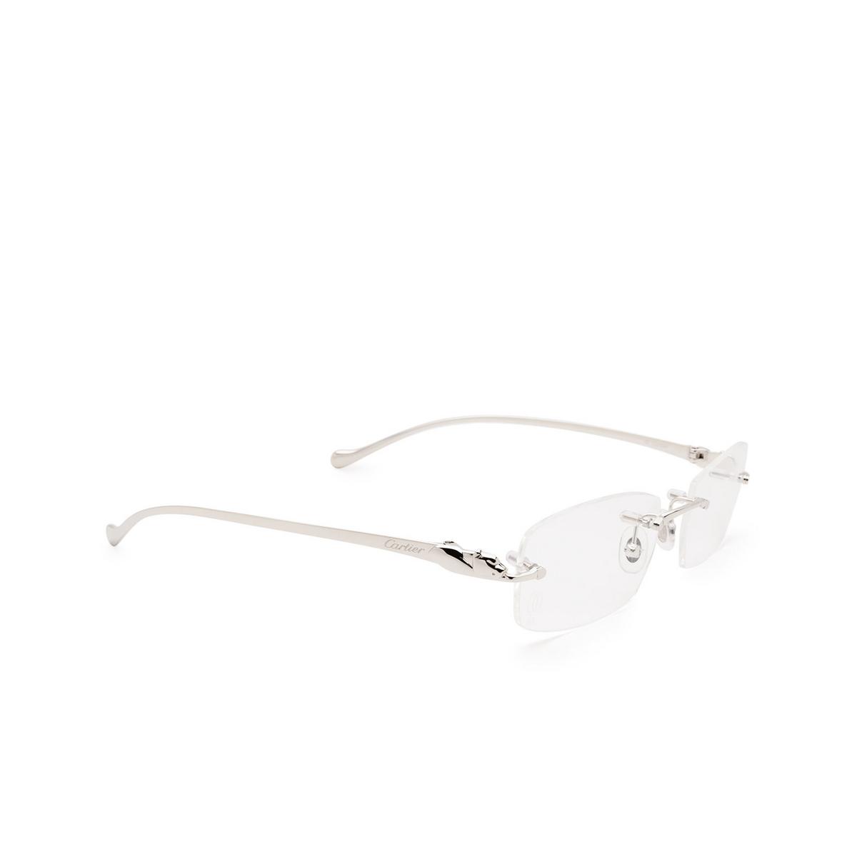 Cartier® Rectangle Eyeglasses: CT0061O color Silver 003.