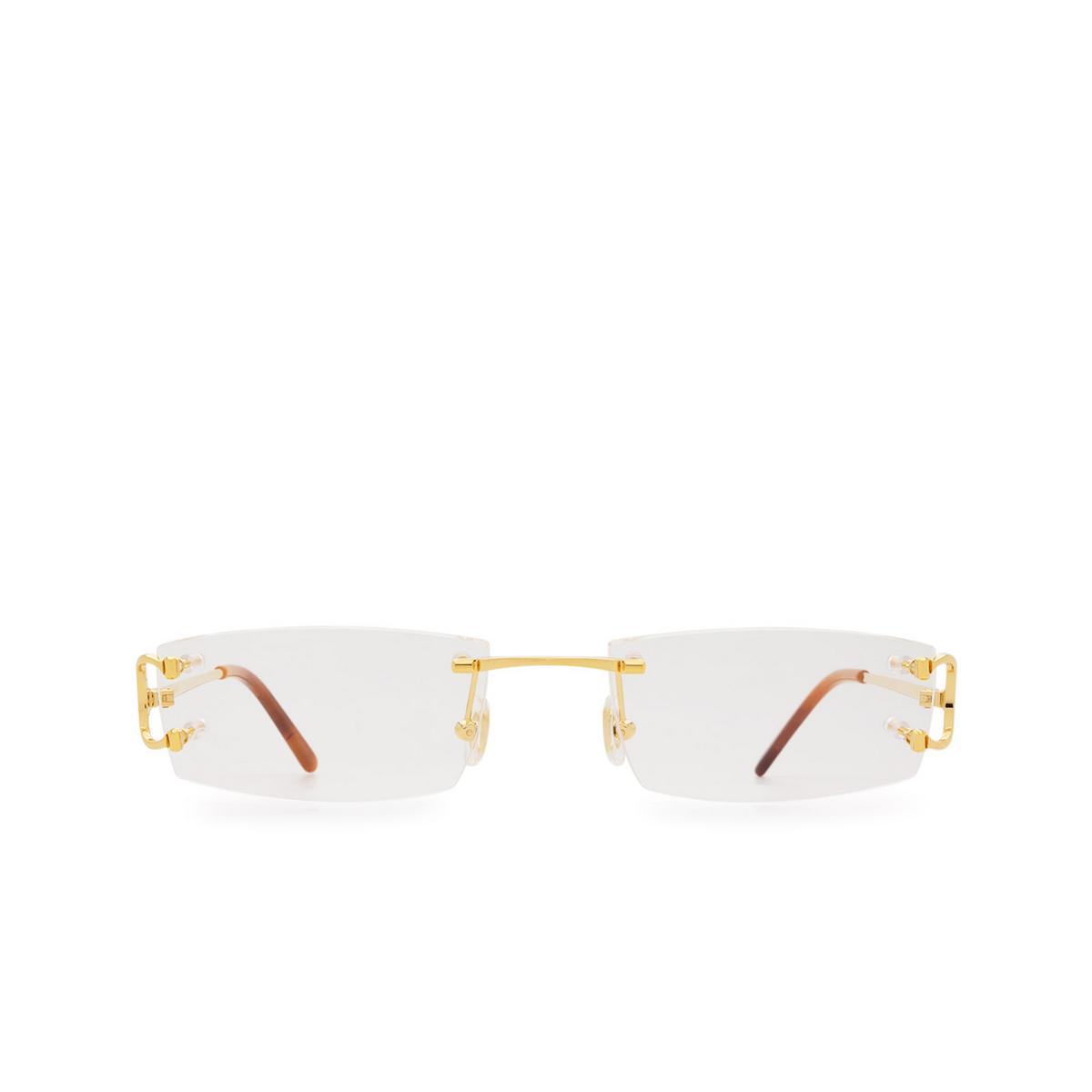 Cartier® Rectangle Eyeglasses: CT0092O color Gold 001.
