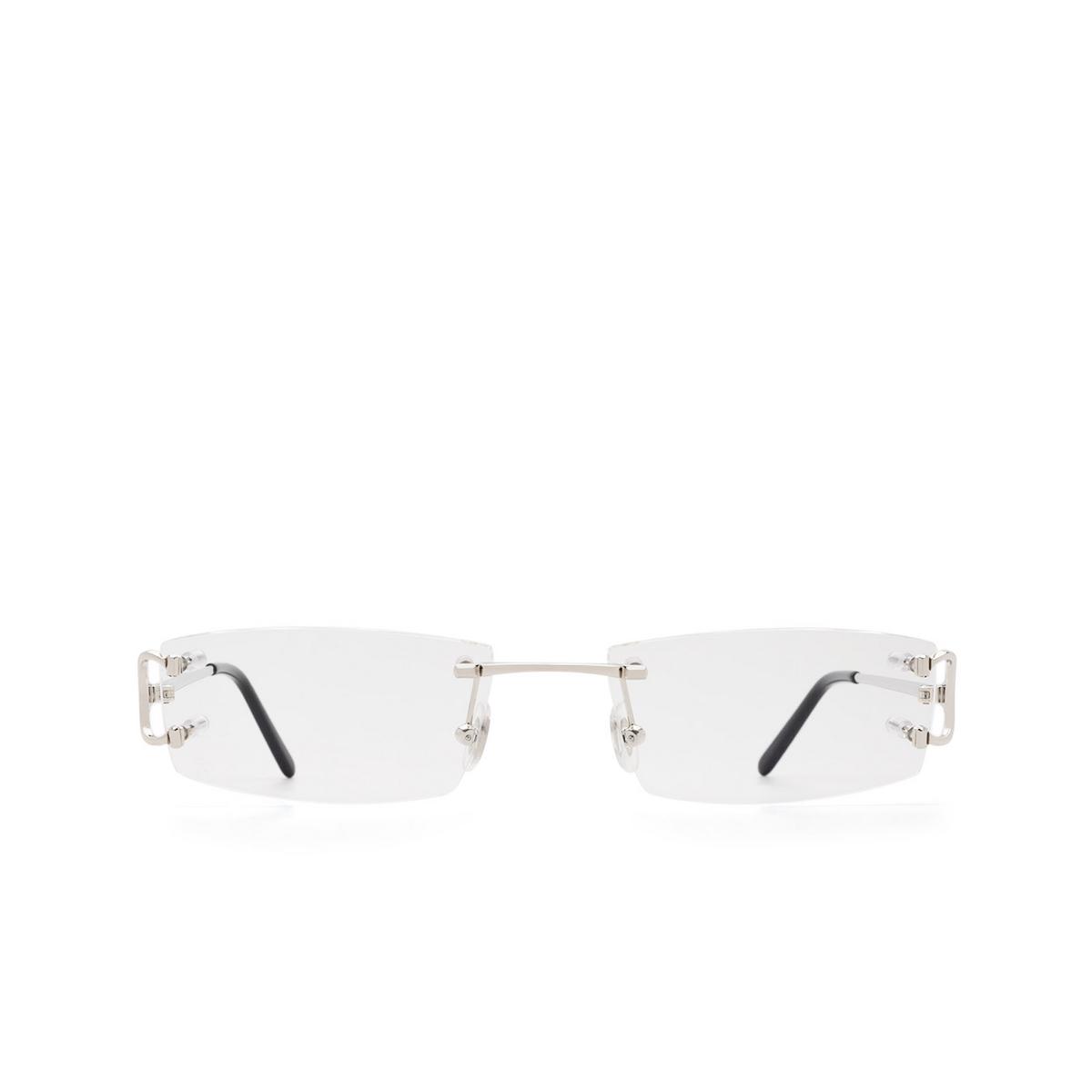Cartier® Rectangle Eyeglasses: CT0092O color Silver 002.
