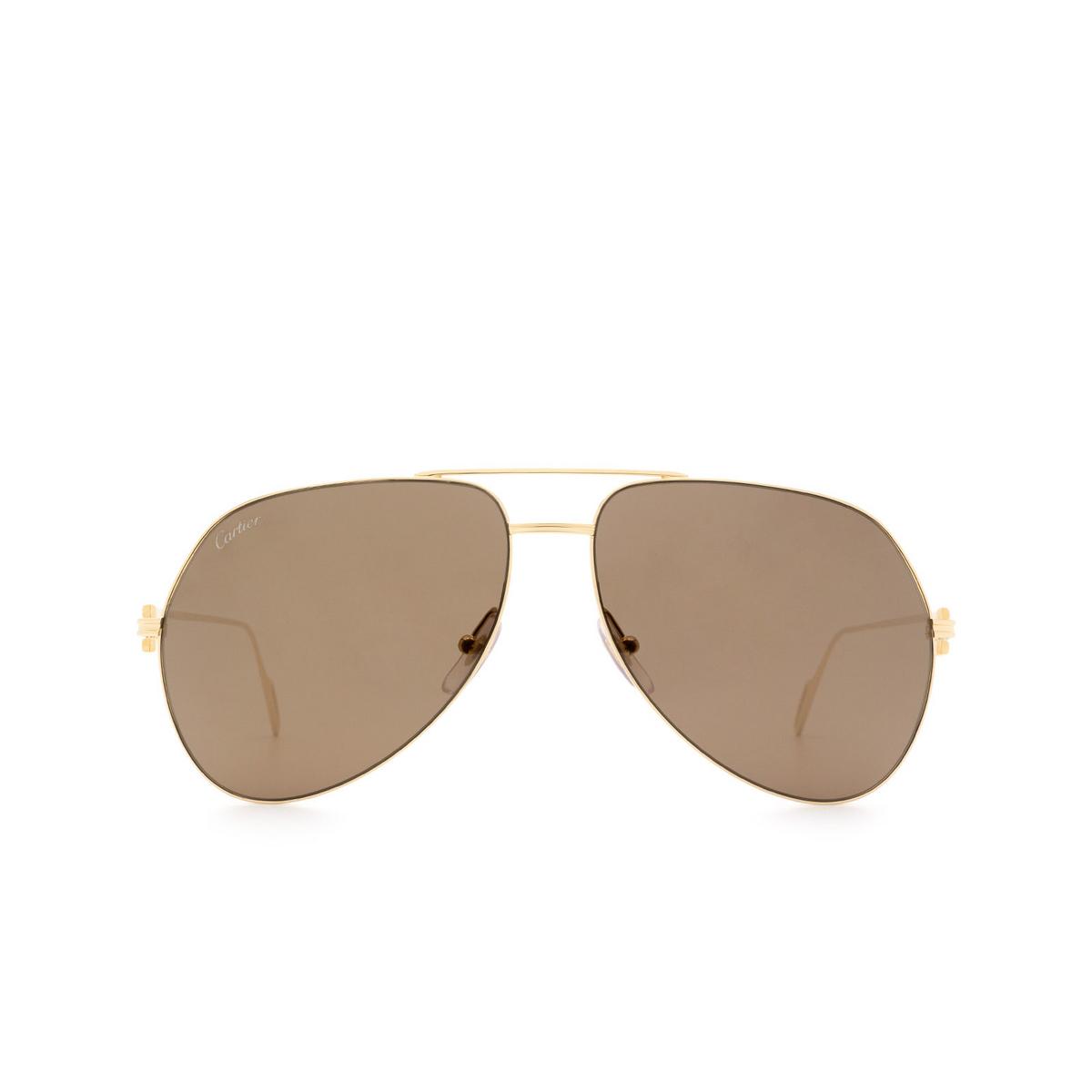 Cartier® Aviator Sunglasses: CT0110S color Gold 012.