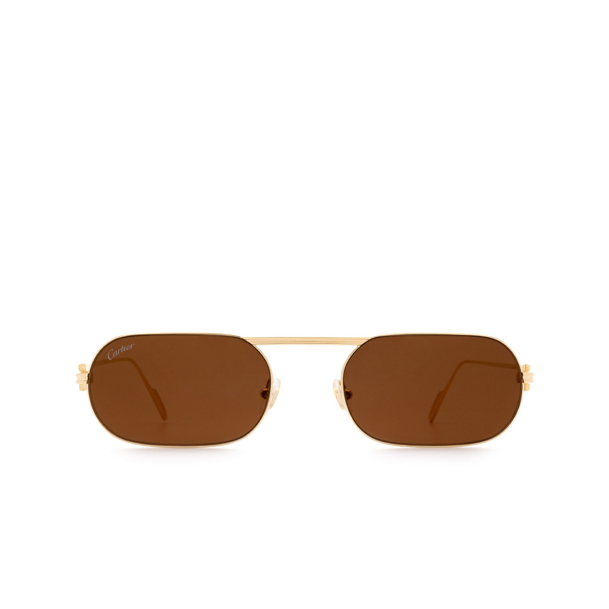 Cartier® Rectangle Sunglasses: CT0112S color Gold 003.
