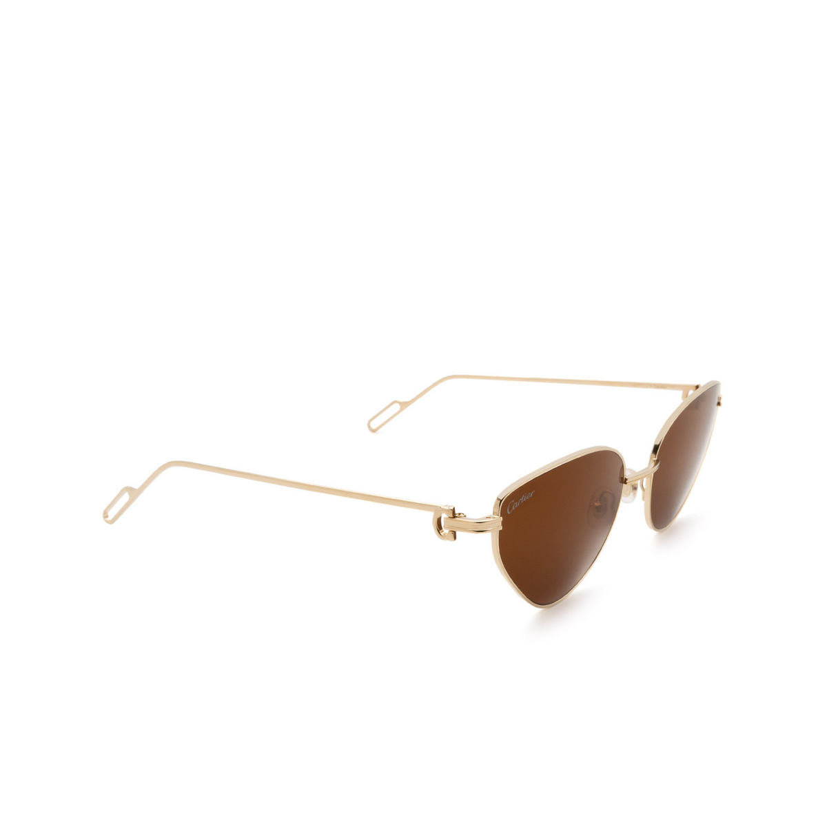 Cartier® Cat-eye Sunglasses: CT0155S color Gold 002.