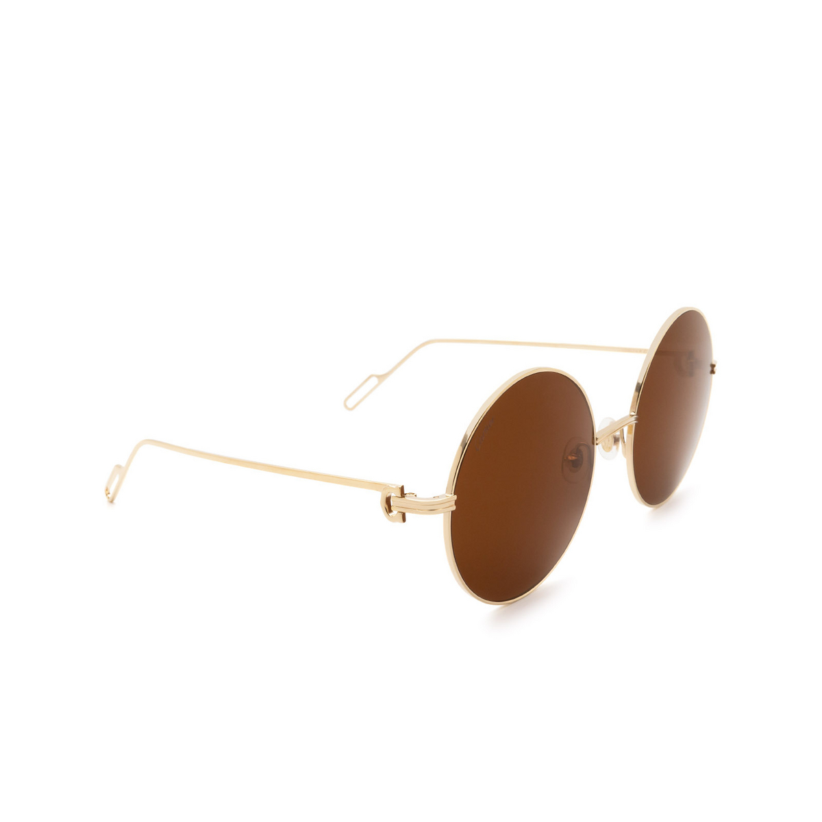 Cartier® Round Sunglasses: CT0156S color Gold 002.
