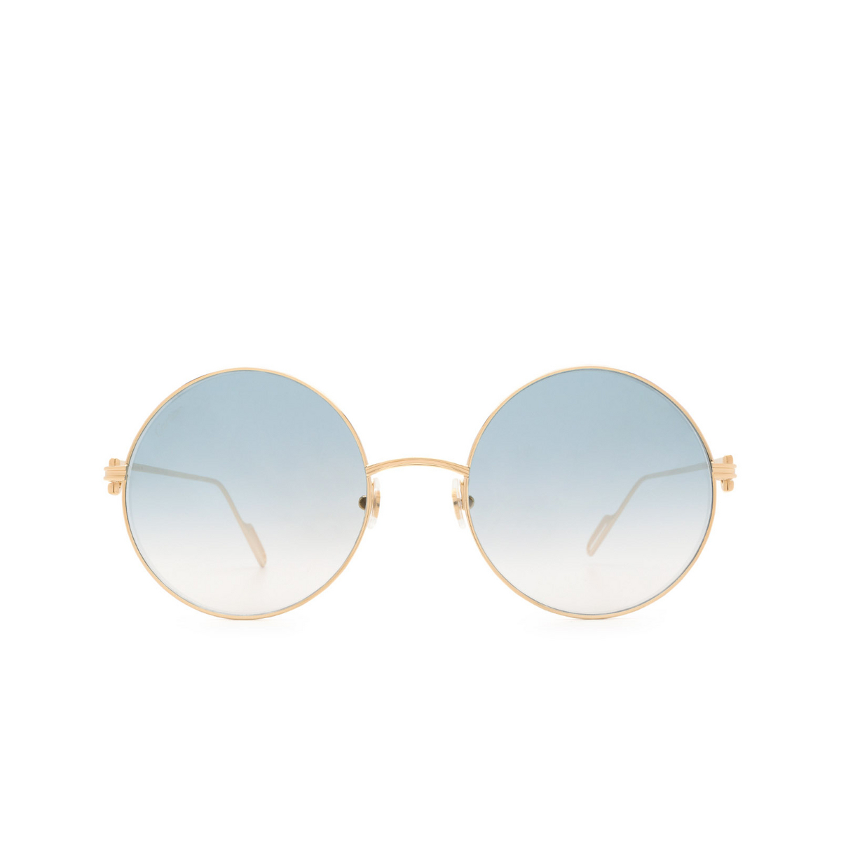 Cartier® Round Sunglasses: CT0156S color Gold 005.