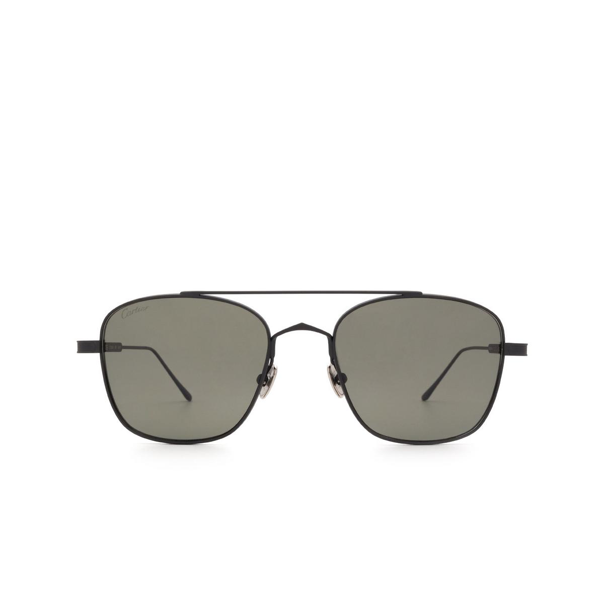 Cartier® Square Sunglasses: CT0163S color Black 001.