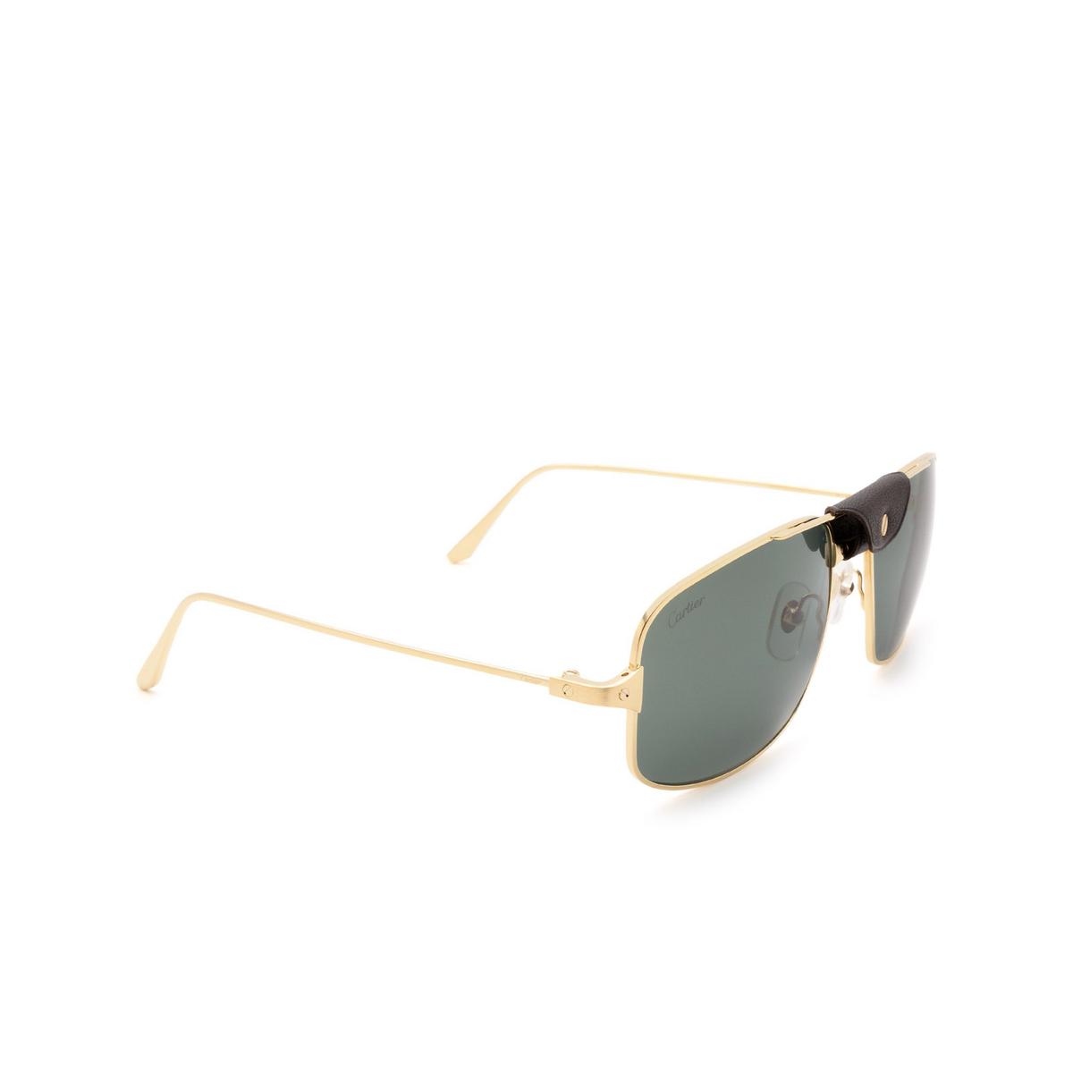 Cartier® Aviator Sunglasses: CT0193S color Gold 002.