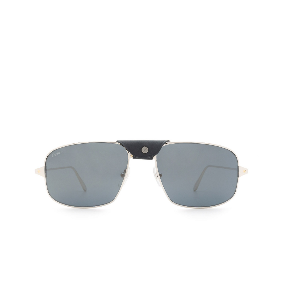 Cartier® Aviator Sunglasses: CT0193S color Silver 004.
