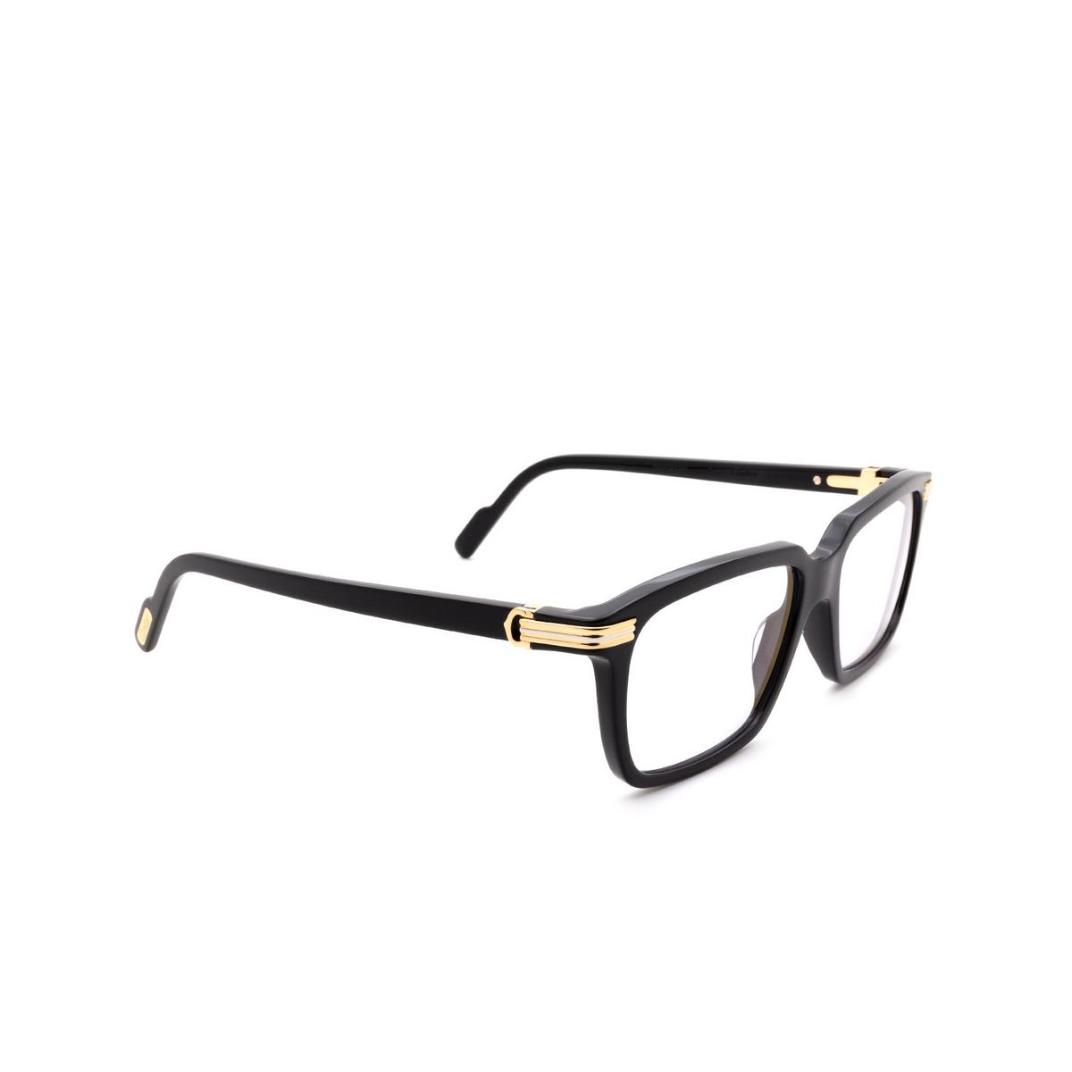 Cartier® Rectangle Sunglasses: CT0220S color Black 006.