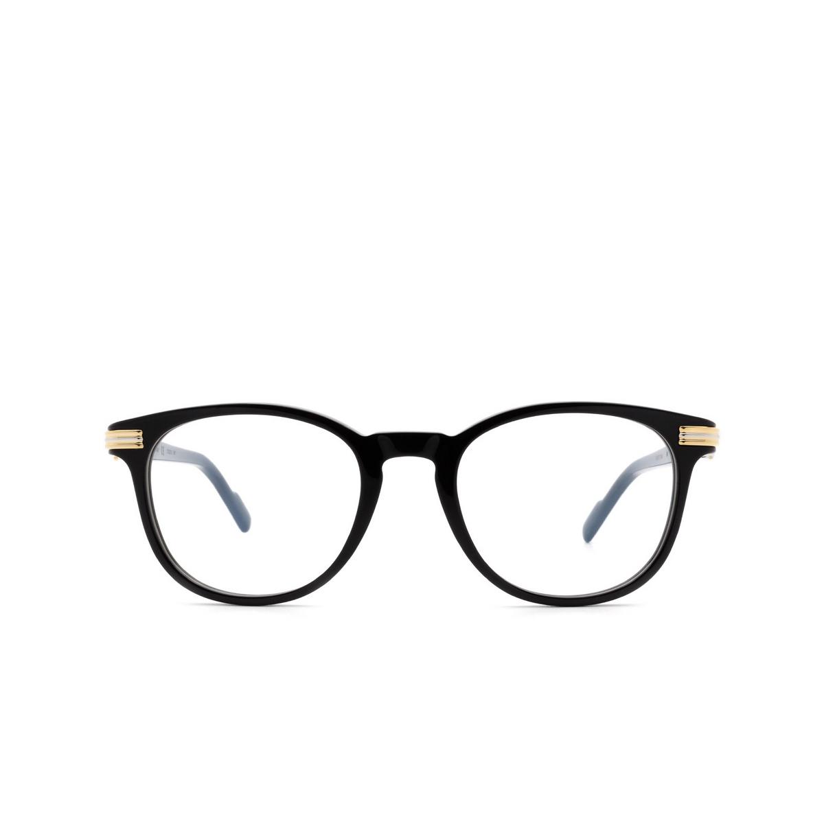 Cartier® Square Eyeglasses: CT0221O color Black 001.