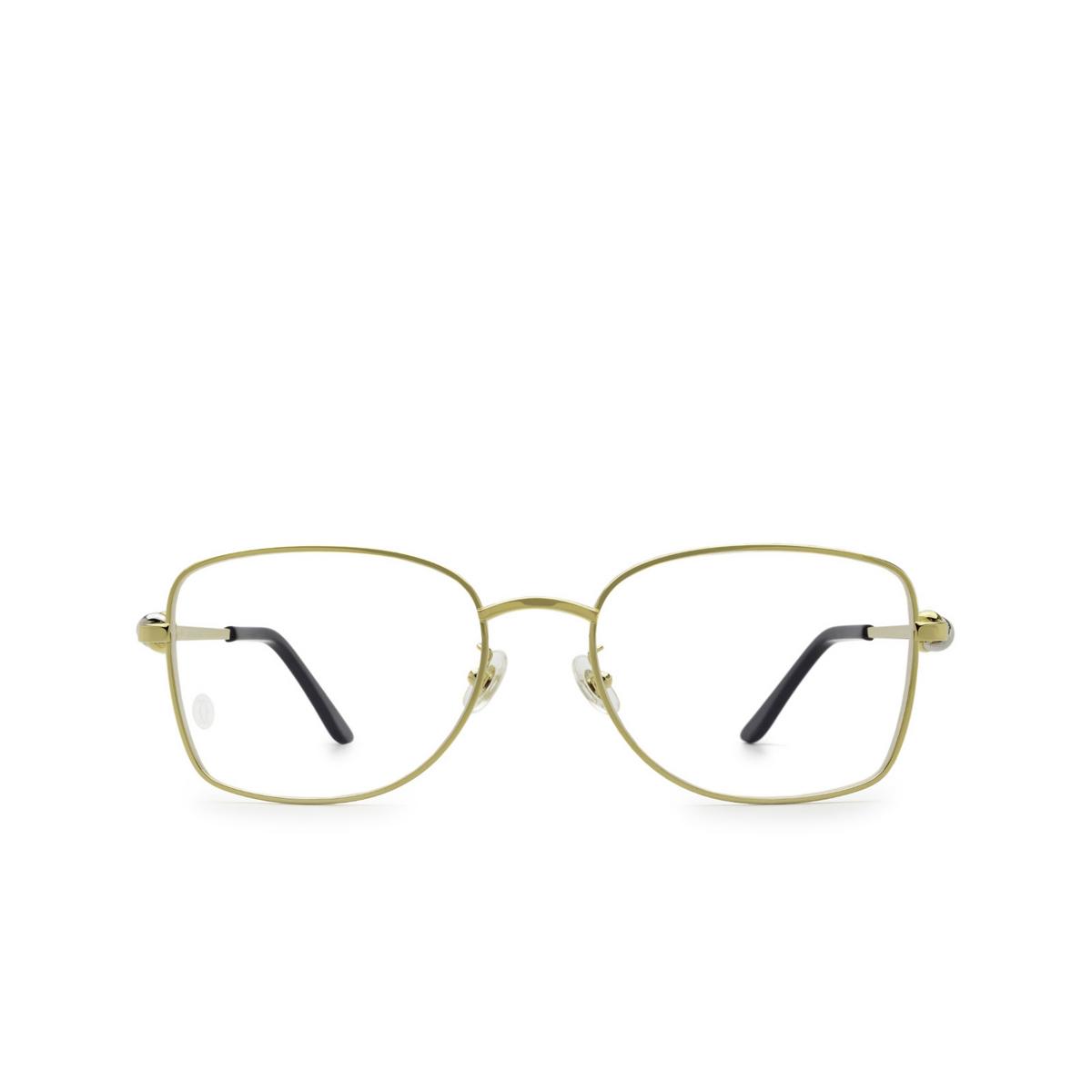 Cartier® Irregular Eyeglasses: CT0223O color Gold 001 - front view.