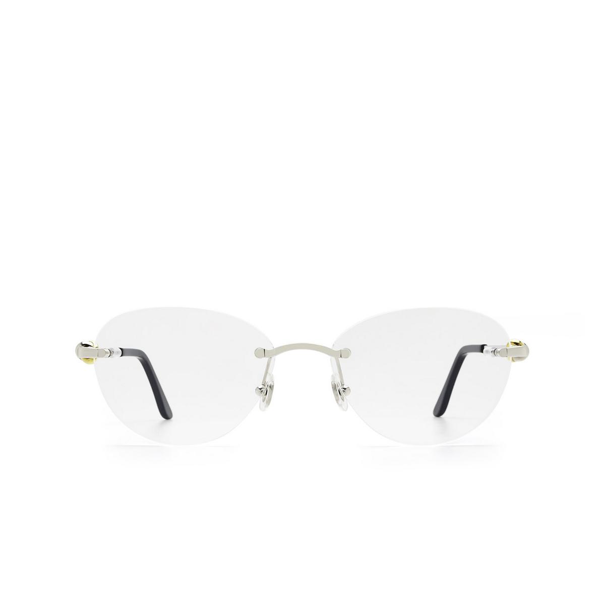 Cartier® Oval Eyeglasses: CT0224O color Silver 002.