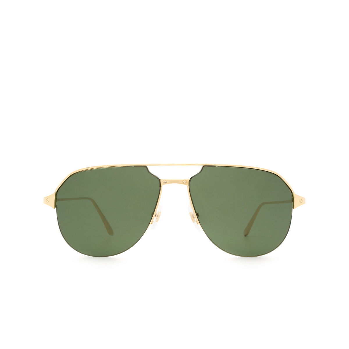 Cartier® Aviator Sunglasses: CT0229S color Gold 002.