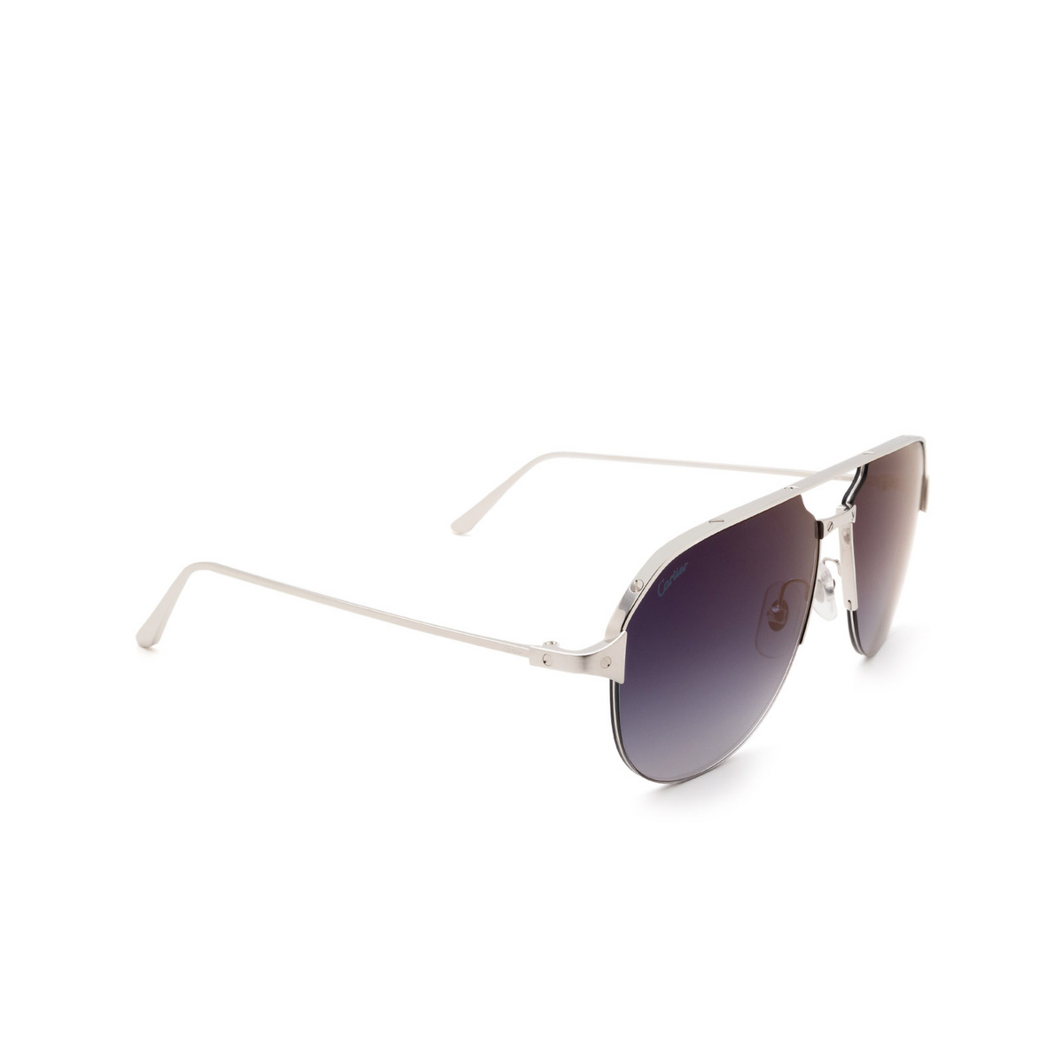 Cartier® Aviator Sunglasses: CT0229S color Silver 004.