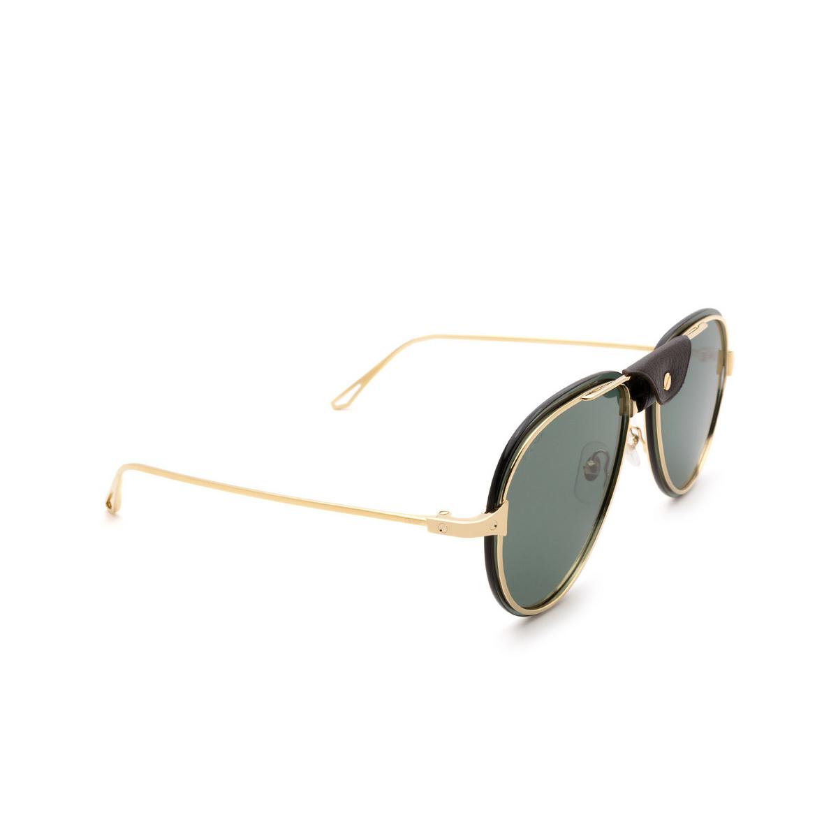 Cartier® Aviator Sunglasses: CT0242S color Gold 002.