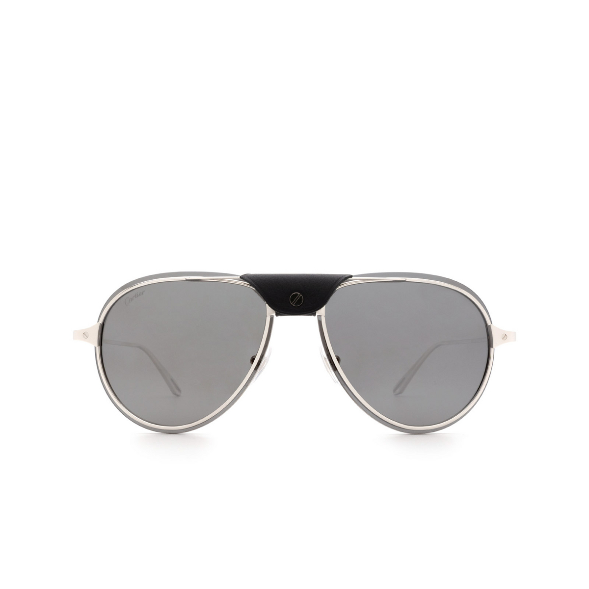 Cartier® Aviator Sunglasses: CT0242S color Silver 003.
