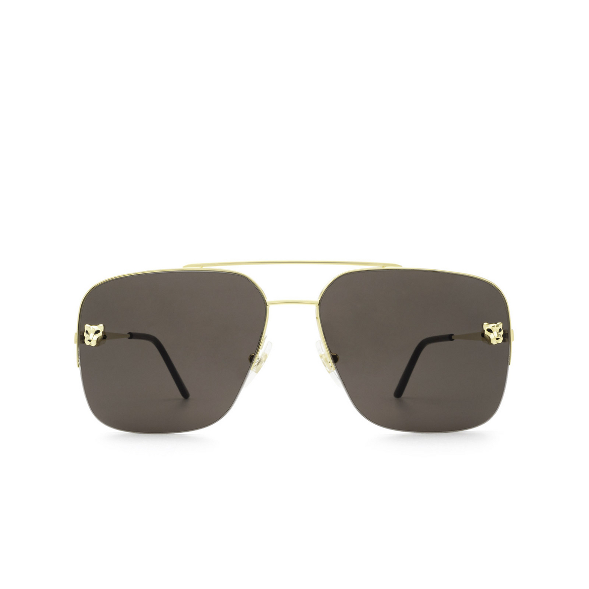 Cartier® Aviator Sunglasses: CT0244S color Gold 001 - front view.