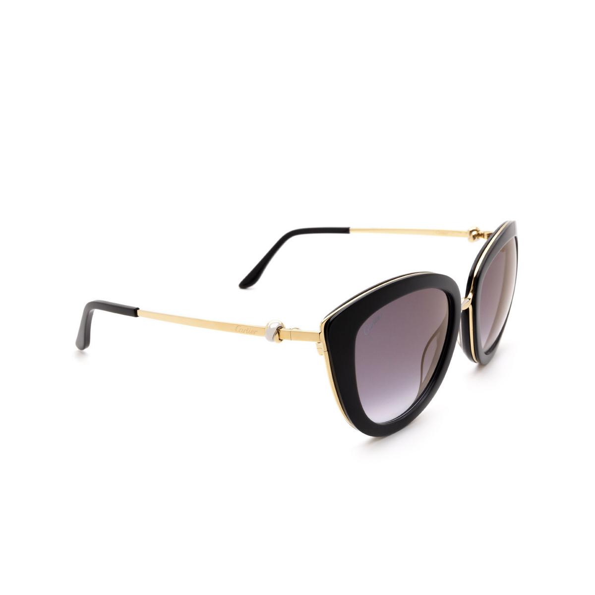 Cartier® Cat-eye Sunglasses: CT0247S color Black 001.