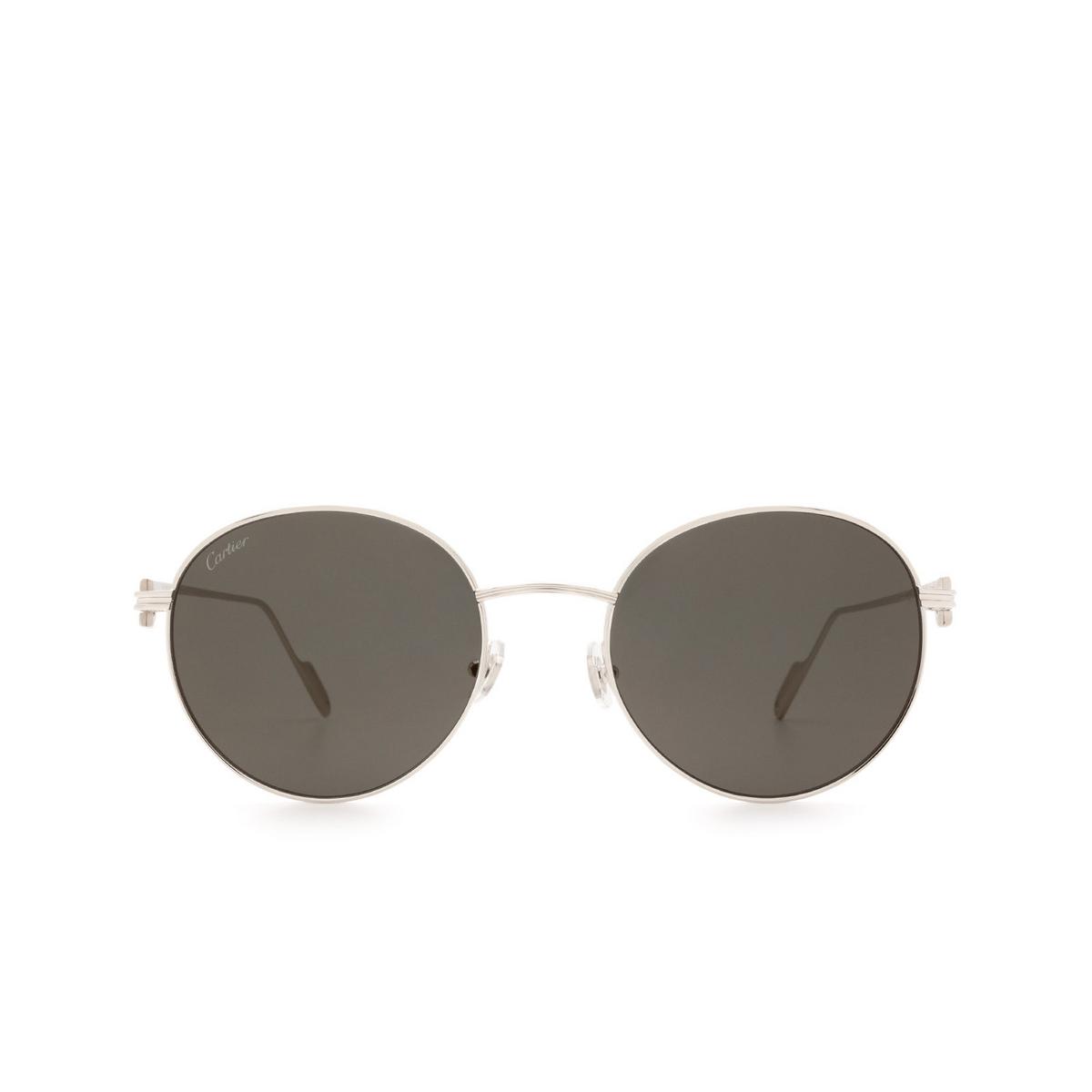 Cartier® Round Sunglasses: CT0249S color Silver 001.
