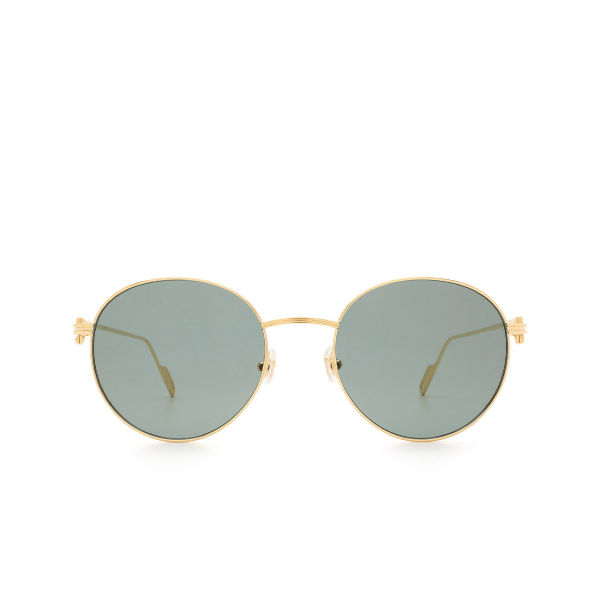 Cartier® Round Sunglasses: CT0249S color Gold 005.