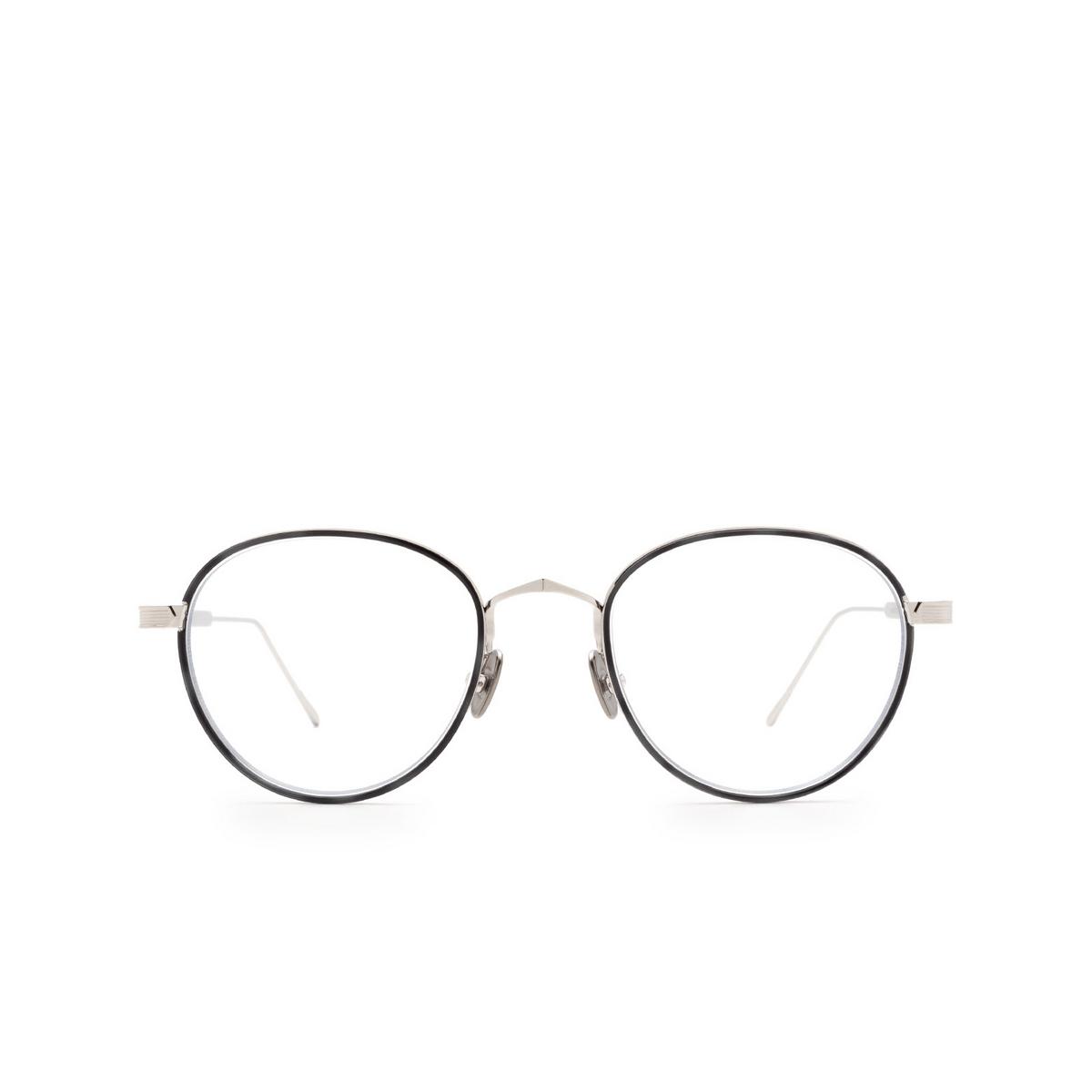 Cartier® Round Eyeglasses: CT0250O color Silver & Black 007.