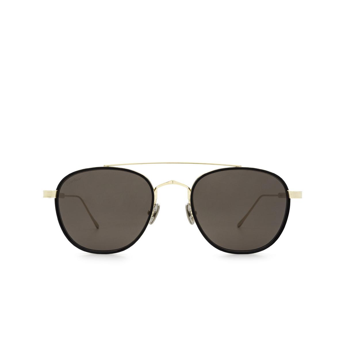 Cartier® Square Sunglasses: CT0251S color Black & Gold 001.