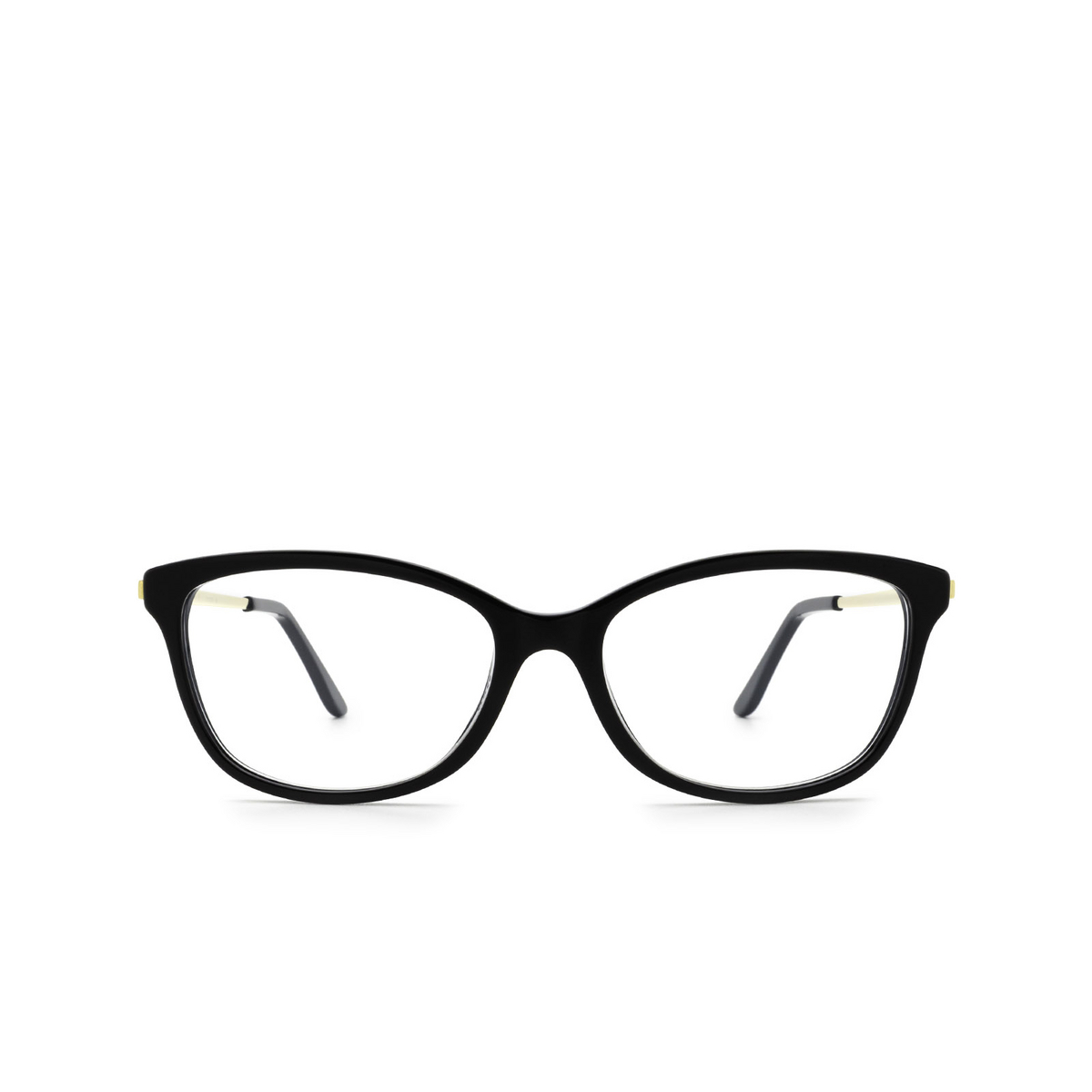 Cartier® Cat-eye Eyeglasses: CT0257O color Black 001 - front view.