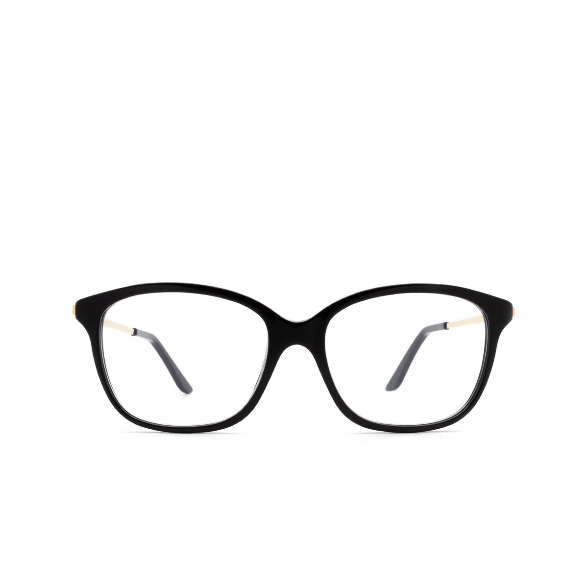 Cartier® Rectangle Eyeglasses: CT0258O color Black 001 - front view.