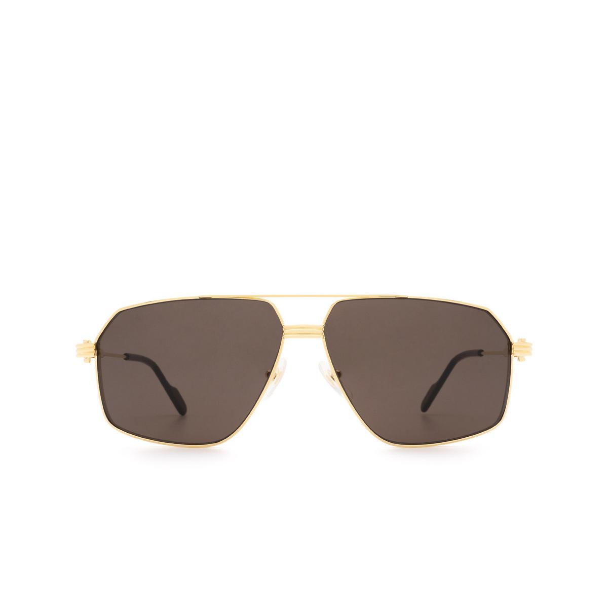 Cartier® Aviator Sunglasses: CT0270S color Gold 001.