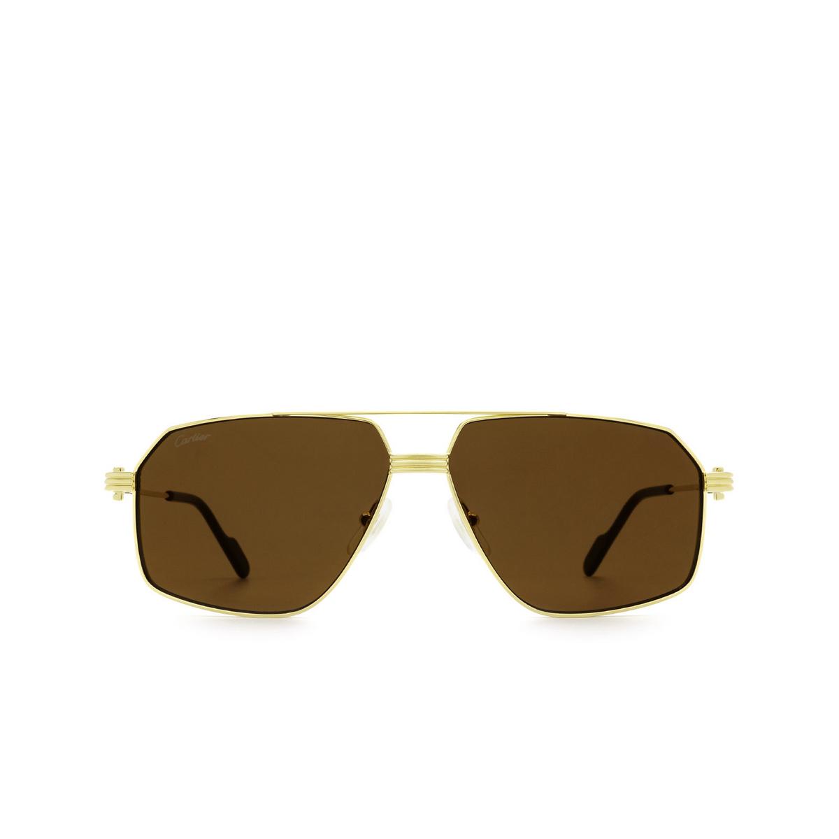 Cartier® Irregular Sunglasses: CT0270S color Gold 006.
