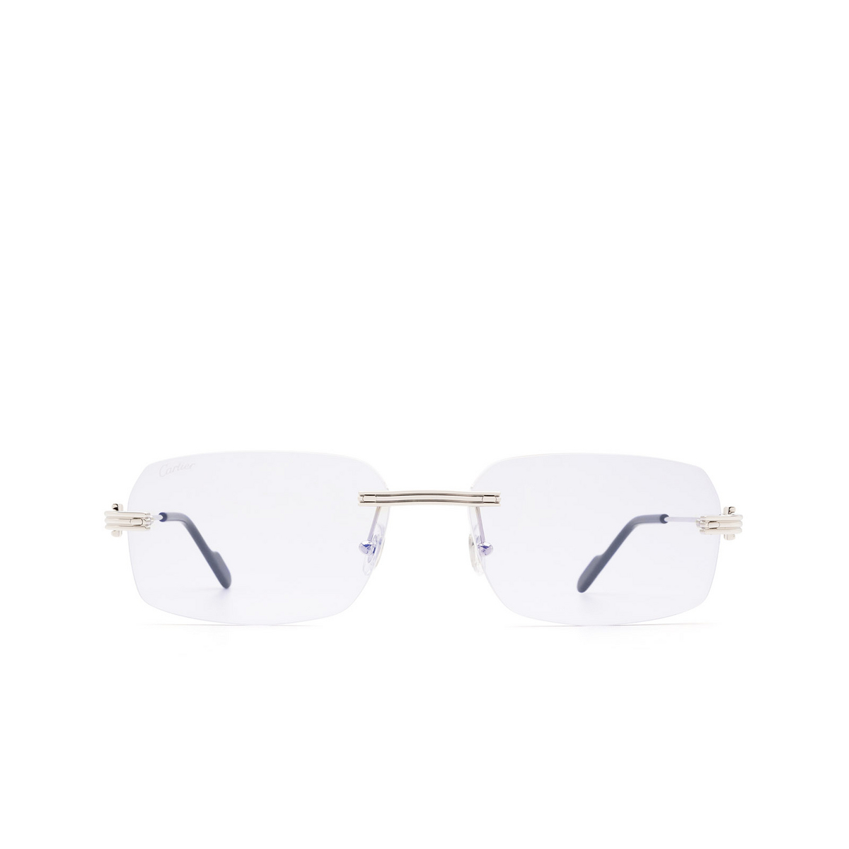 Cartier® Rectangle Sunglasses: CT0271S color Silver 005 - front view.