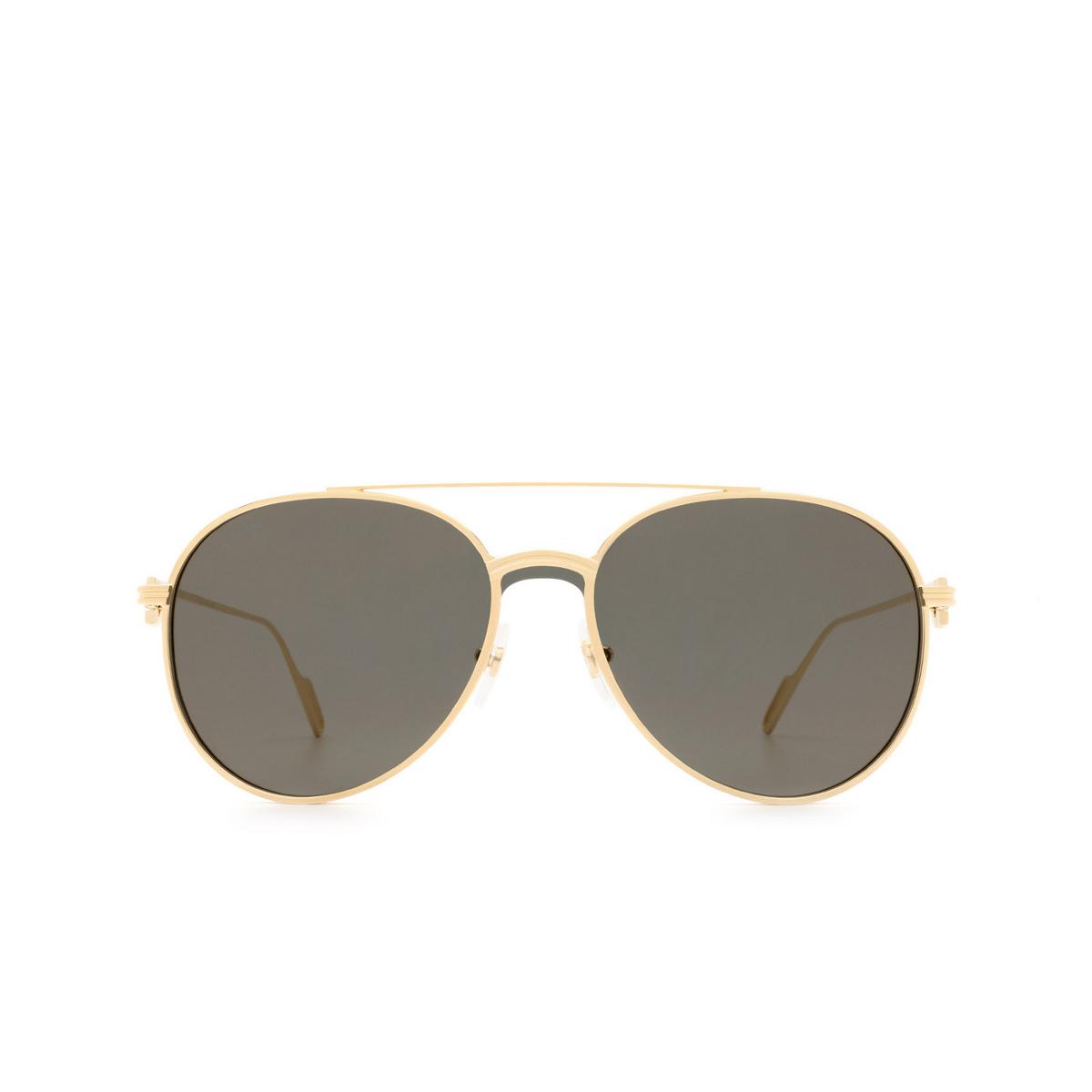 Cartier® Aviator Sunglasses: CT0273S color Gold 001.