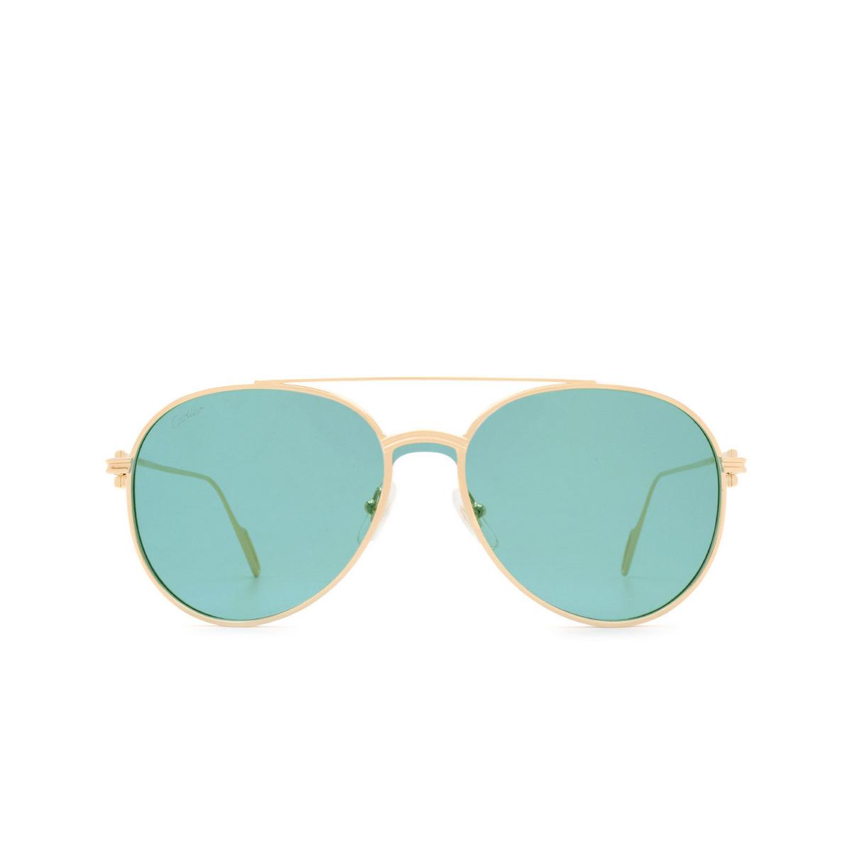 Cartier® Aviator Sunglasses: CT0273S color Gold 003.