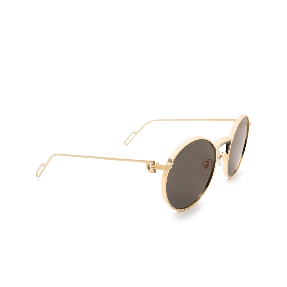 Cartier® Round Sunglasses: CT0274S color Gold 001.