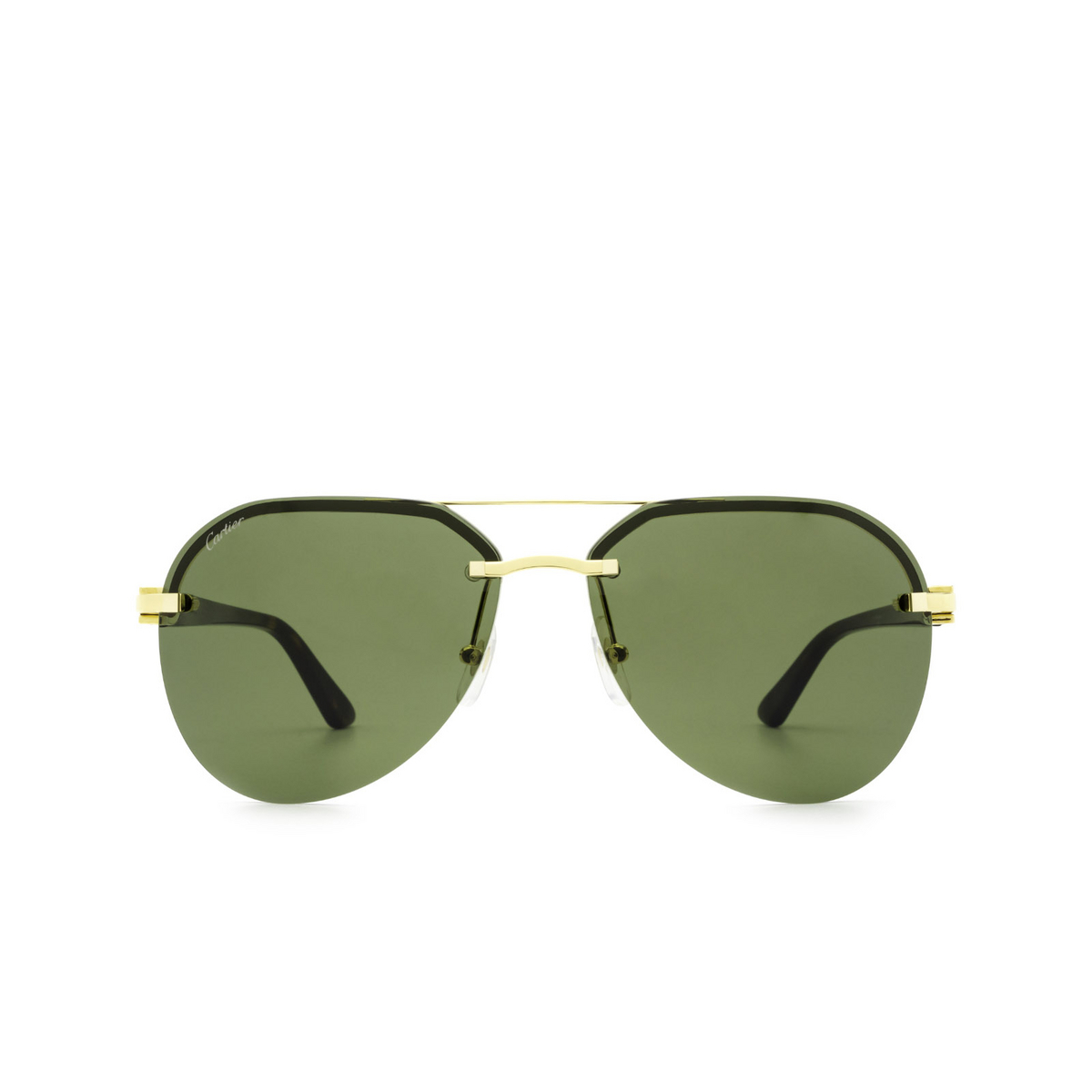 Cartier® Aviator Sunglasses: CT0275S color Gold 002 - front view.