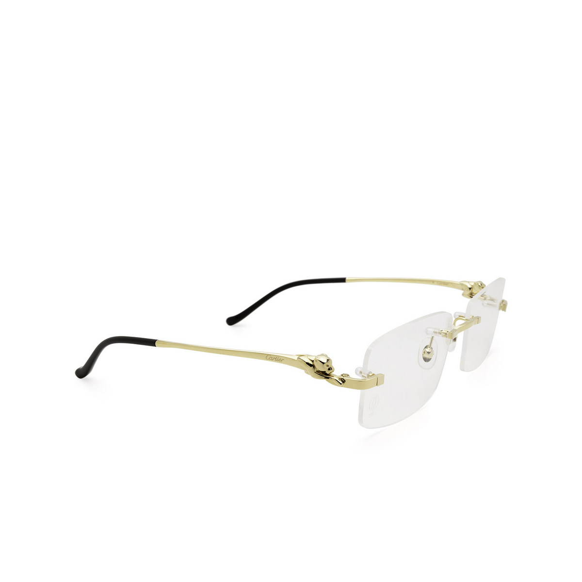 Cartier® Rectangle Eyeglasses: CT0281O color Gold 003.