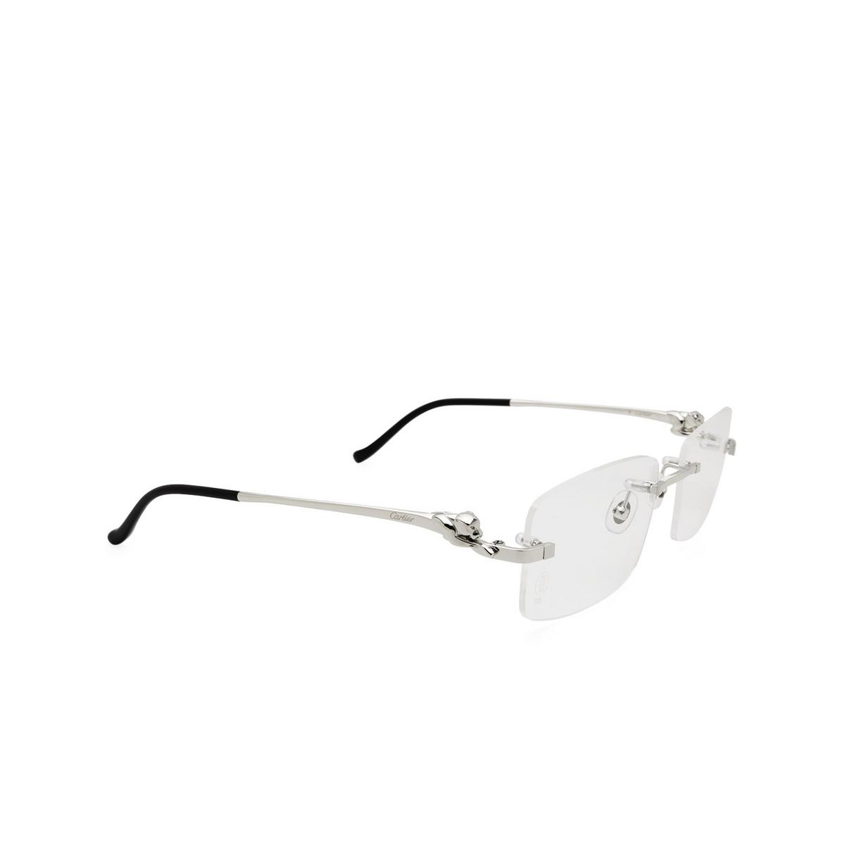 Cartier® Rectangle Eyeglasses: CT0281O color Silver 004.