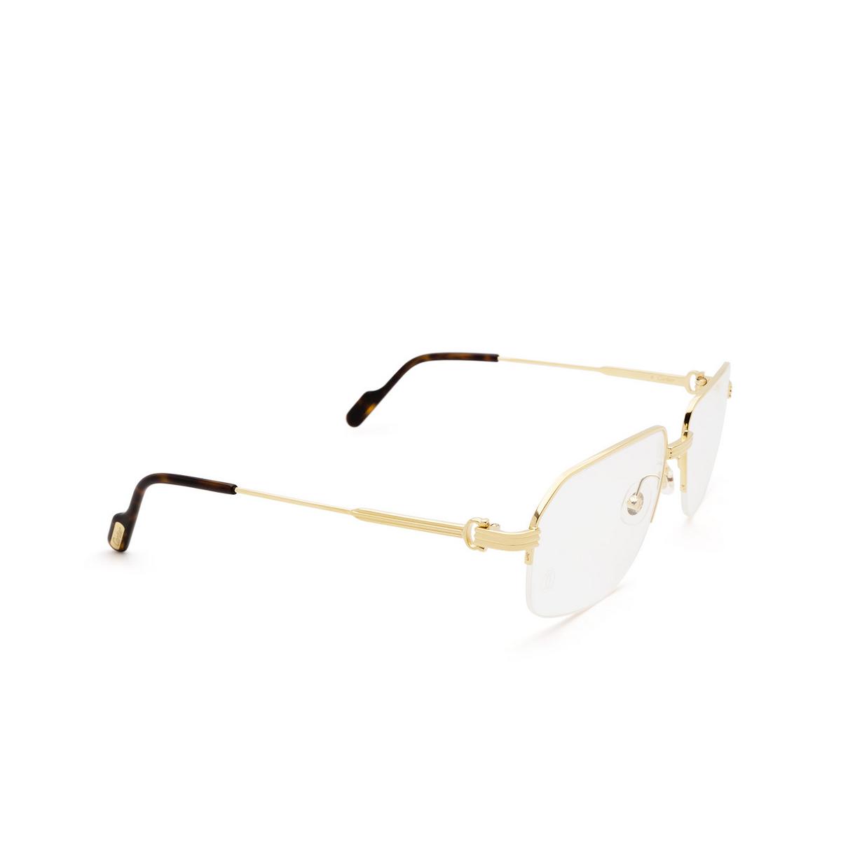 Cartier® Irregular Eyeglasses: CT0285O color Gold 002.