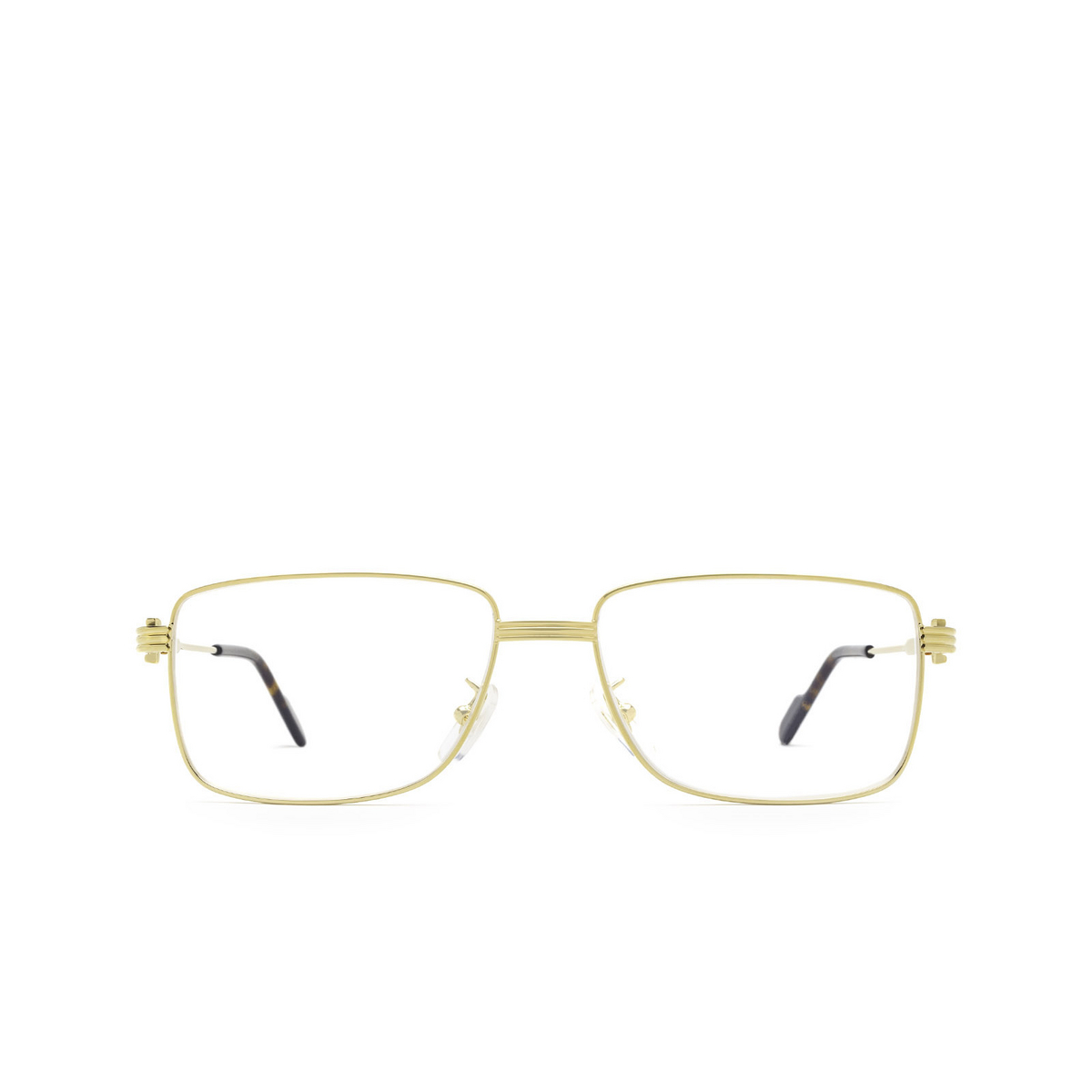 Cartier® Rectangle Eyeglasses: CT0294OA color Gold 002 - front view.
