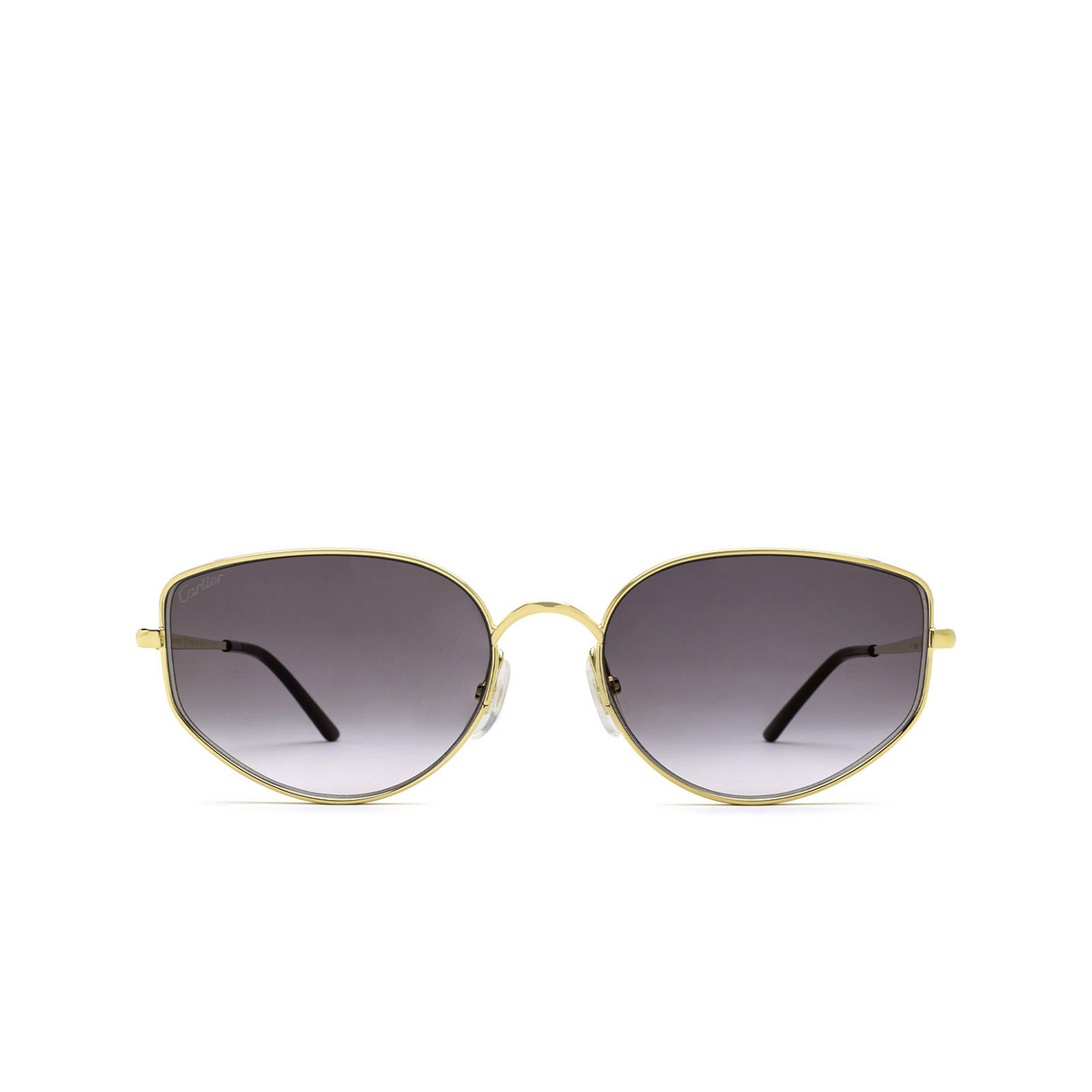 Cartier® Cat-eye Sunglasses: CT0300S color Gold 001 - front view.