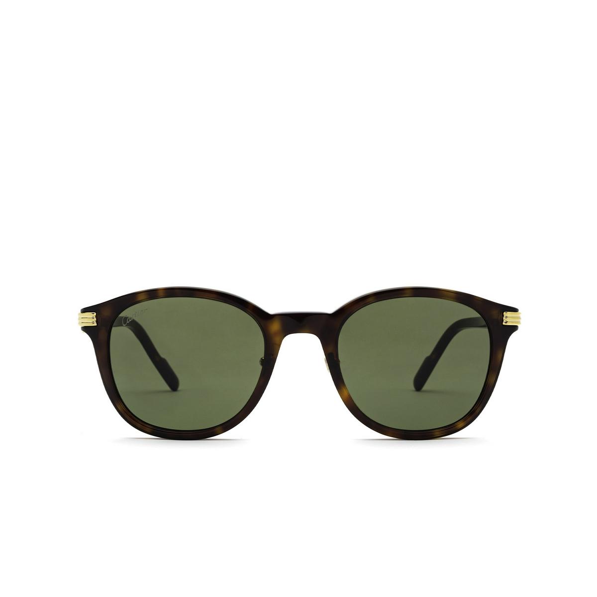 Cartier® Square Sunglasses: CT0302S color Havana 002 - front view.