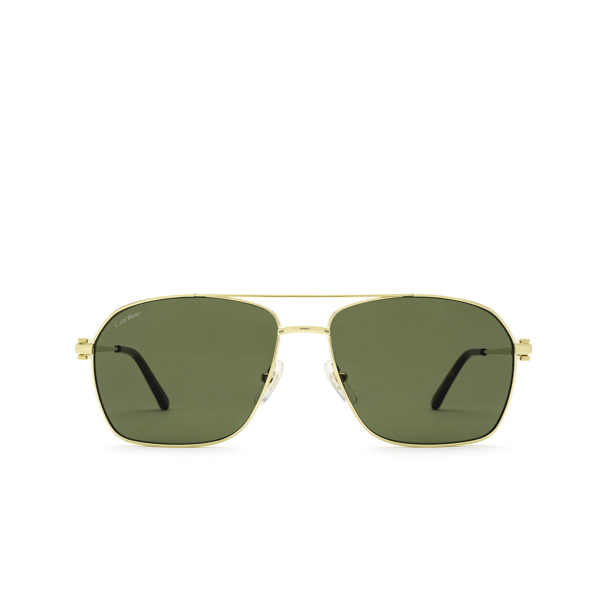 Cartier® Aviator Sunglasses: CT0306S color Gold 002 - front view.