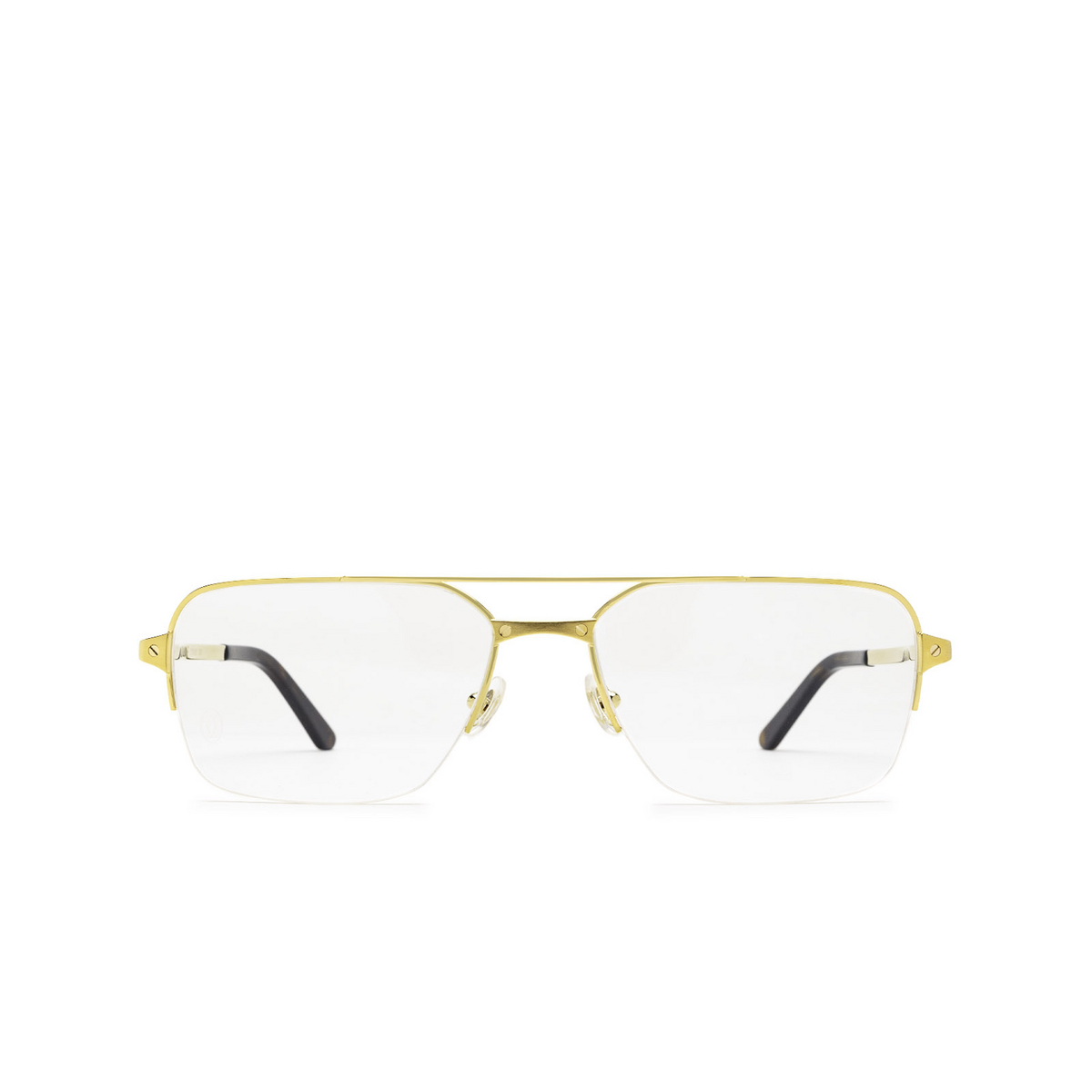 Cartier® Rectangle Eyeglasses: CT0308O color Gold 003 - front view.