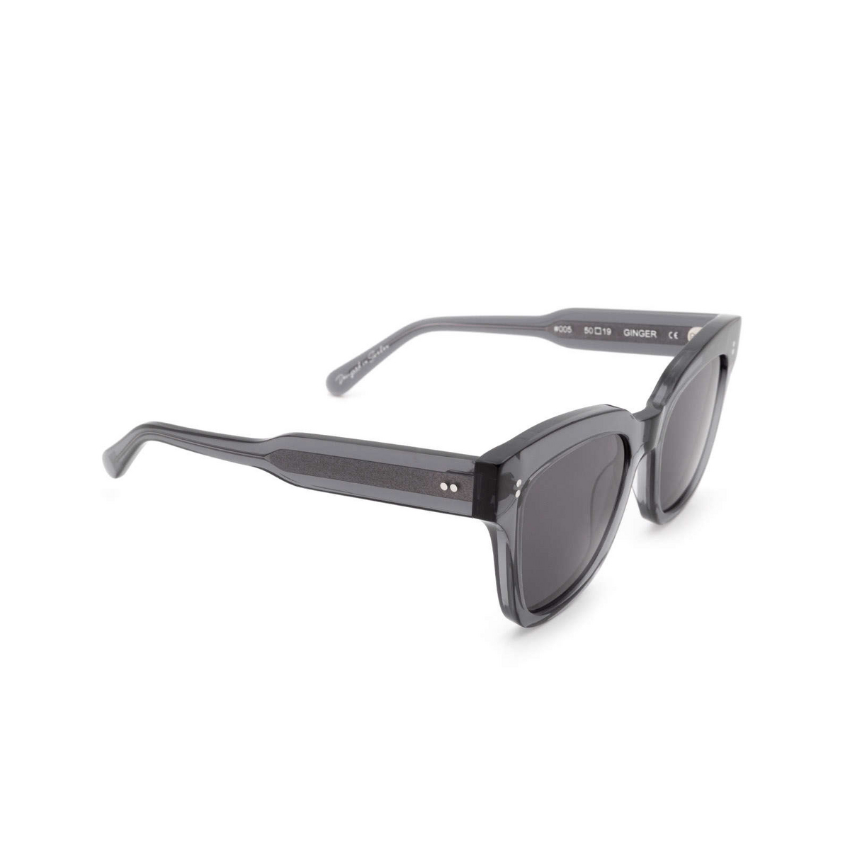 Chimi® Square Sunglasses: #005 color Grey Ginger.