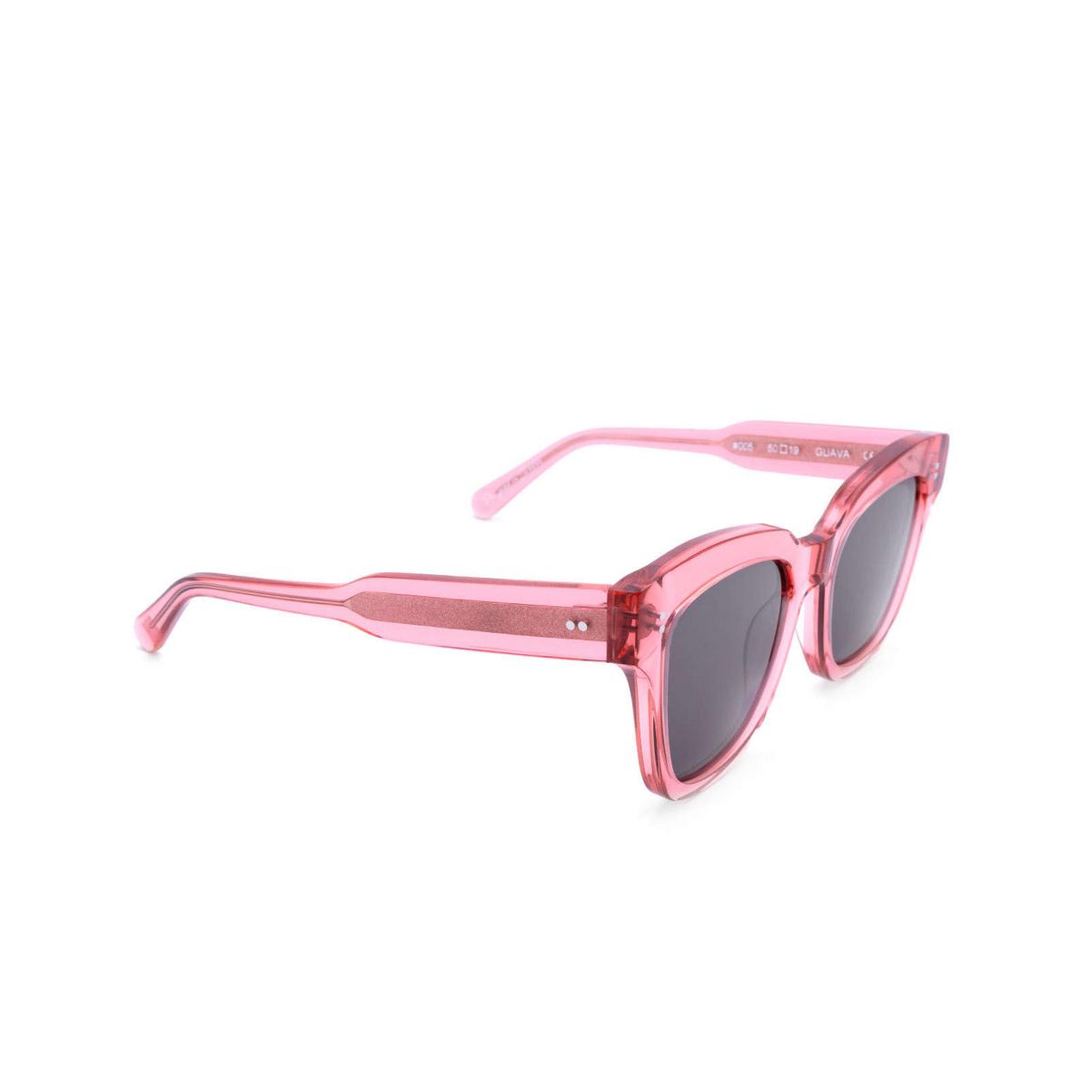 Chimi® Square Sunglasses: #005 color Pink Guava.